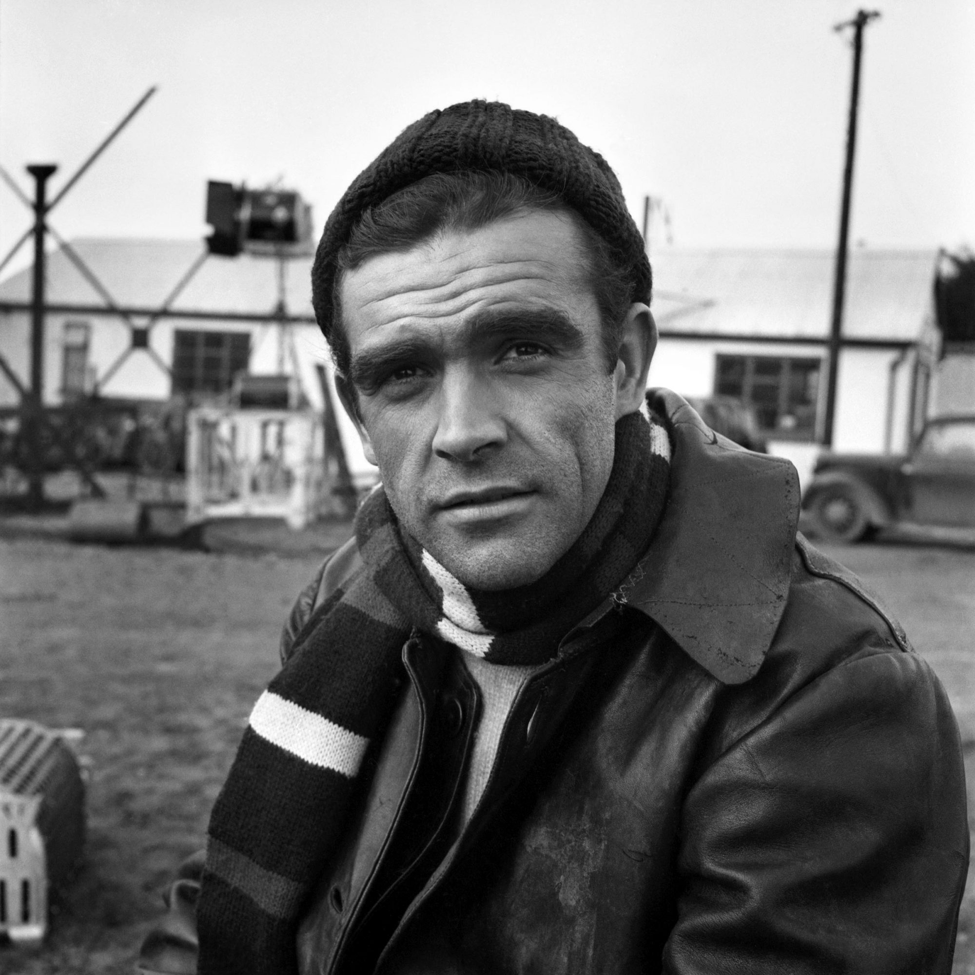 "Sean Connery on the set of the film ""Action of the Tiger"". November 1956 A357"