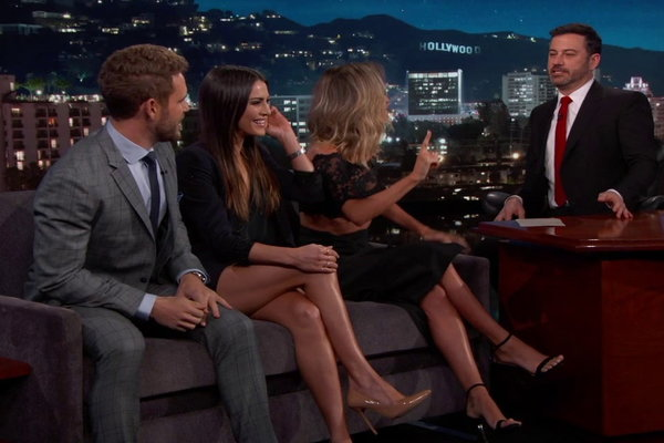 Nick Viall and exes on Kimmel