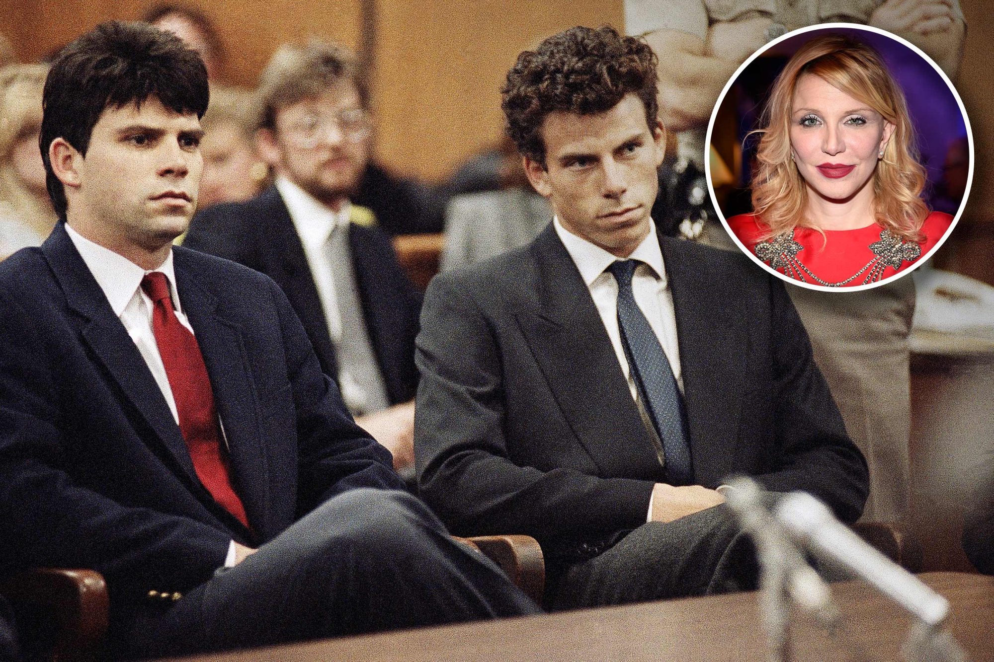 Courtney Love in Menendez Brothers Lifetime Movie