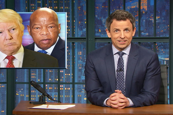Seth Meyers talks John Lewis