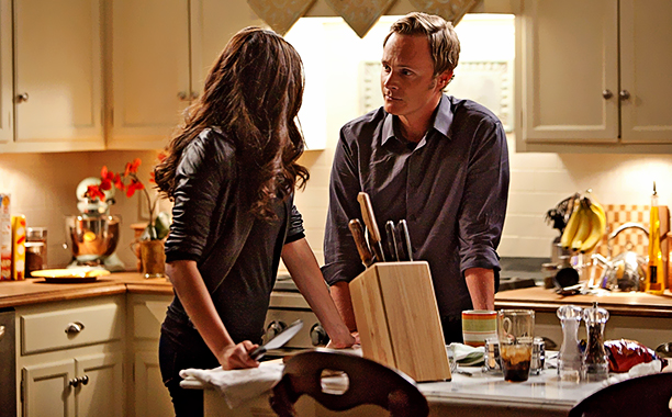 """ALL CROPS: """"Founder's Day"""" - Nina Dobrev as Katherine, David Anders as Johnathan Gilbert in THE VAMPIRE DIARIES on The CW. Photo:"""