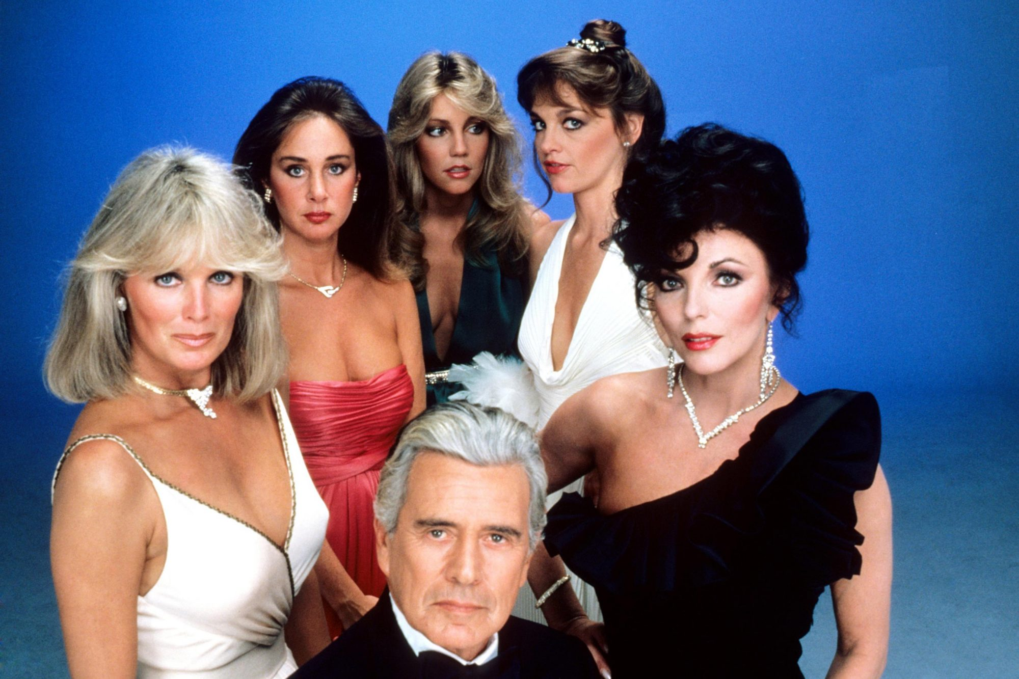 DYNASTY, clockwise from far left: Linda Evans, Pamela Bellwood, Heather Locklear, Pamela Sue Martin,