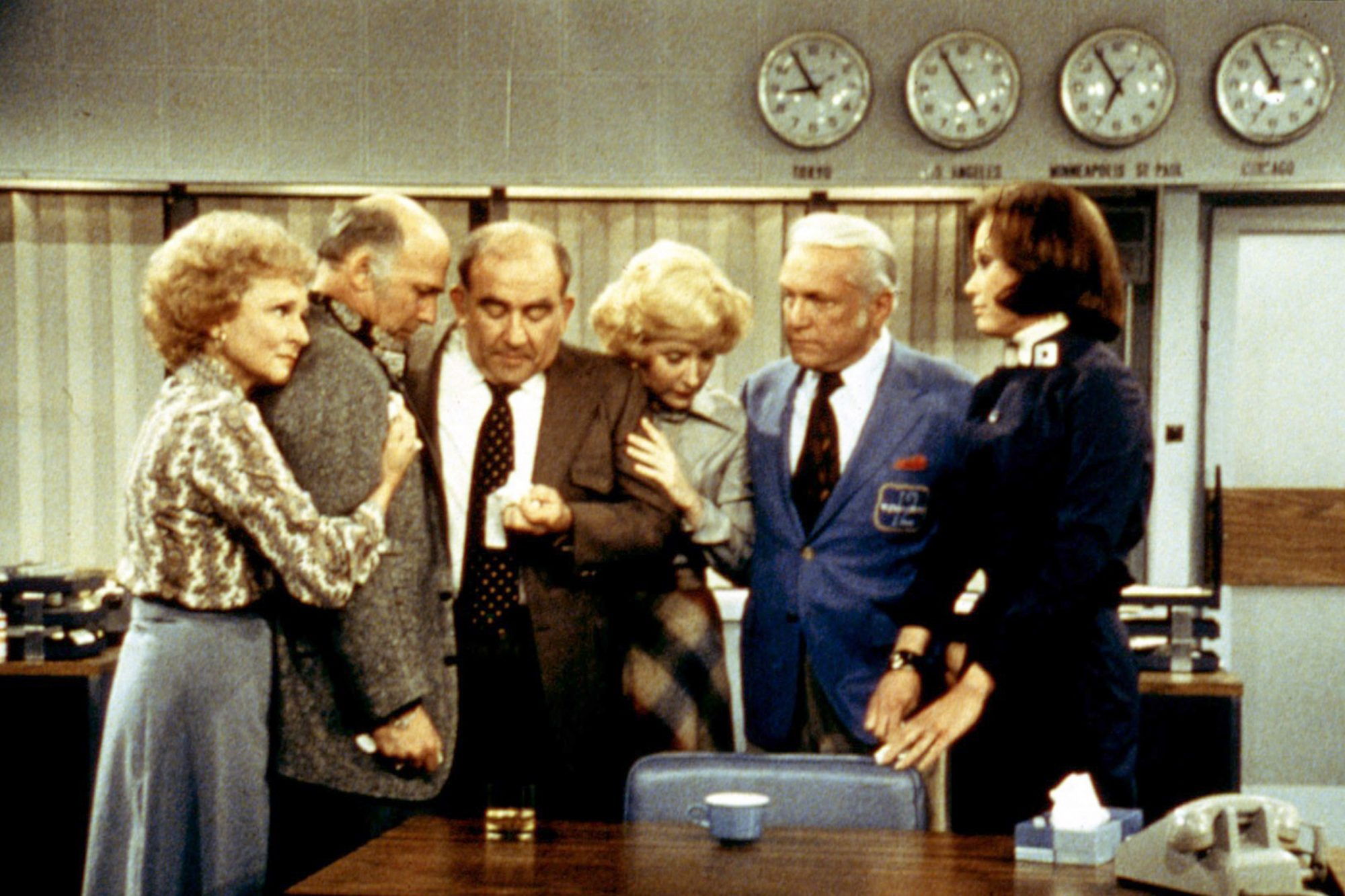 MARY TYLER MOORE SHOW,  Betty White, Gavin MacLeod, Ed Asner, Georgia Engel, Ted Knight, Mary Tyler
