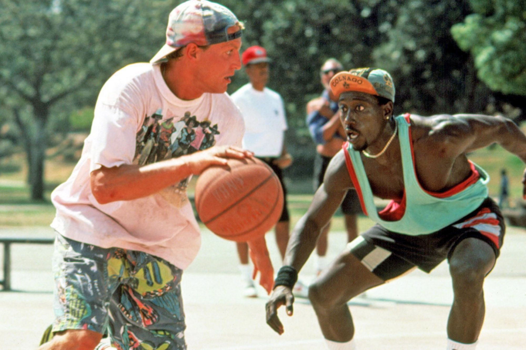 WHITE MEN CAN'T JUMP, Woody Harrelson, Wesley Snipes, 1992, TM & Copyright (c) 20th Century Fox Film