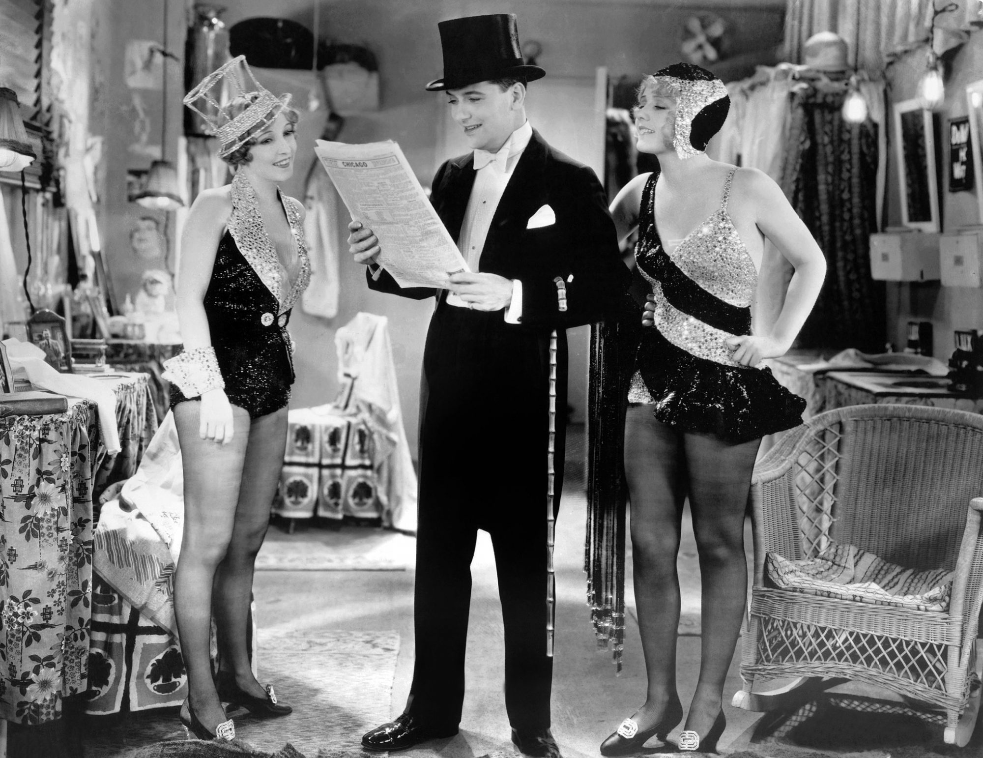 THE BROADWAY MELODY, from left: Bessie Love, Charles King, Anita Page, 1929
