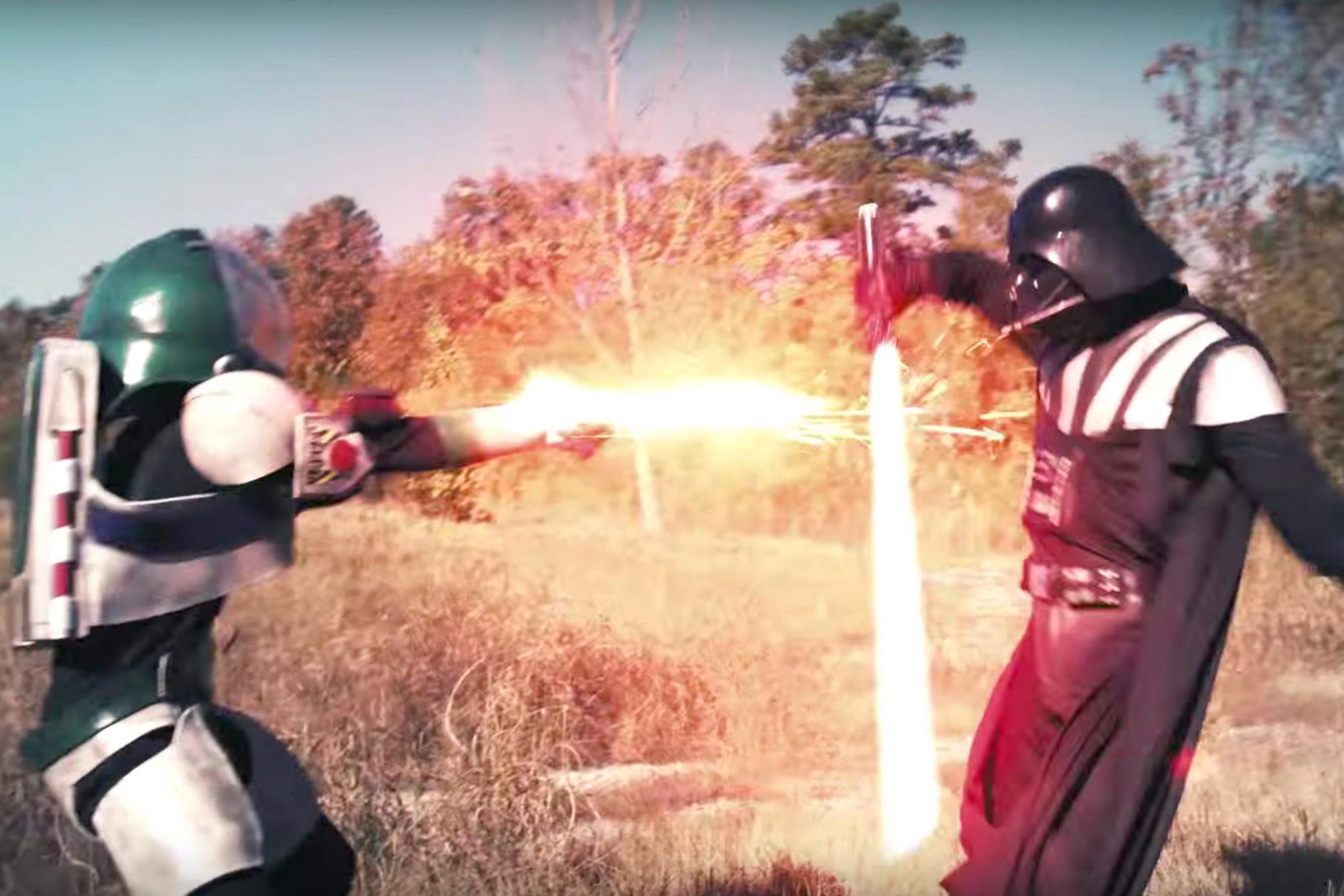 Darth Vader VS Buzz Lightyear Youtube video (screen grab) CR: Nukazooka