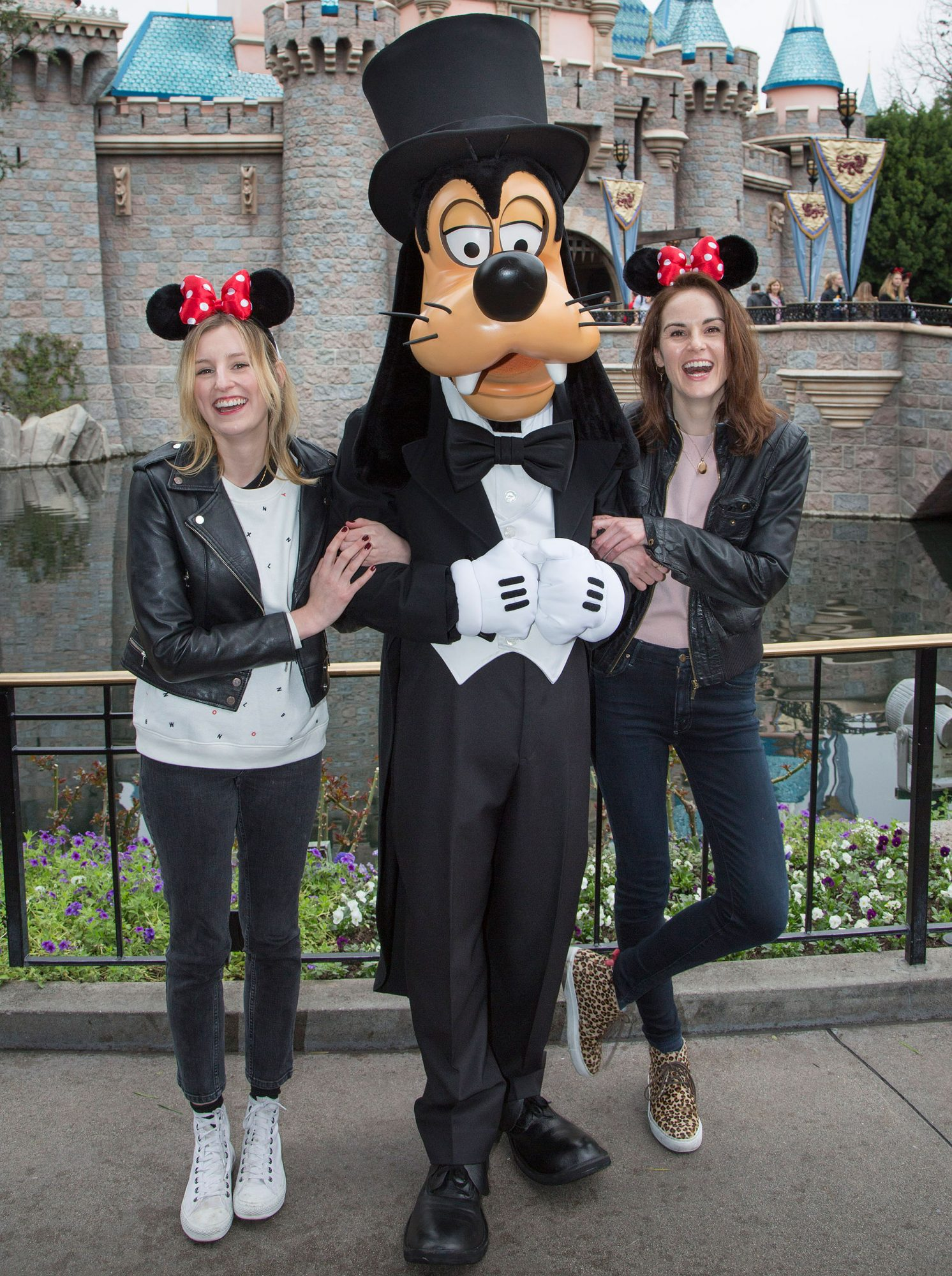 The Ladies of Downton Abbey Get Goofy in Charming Disney World Reunion