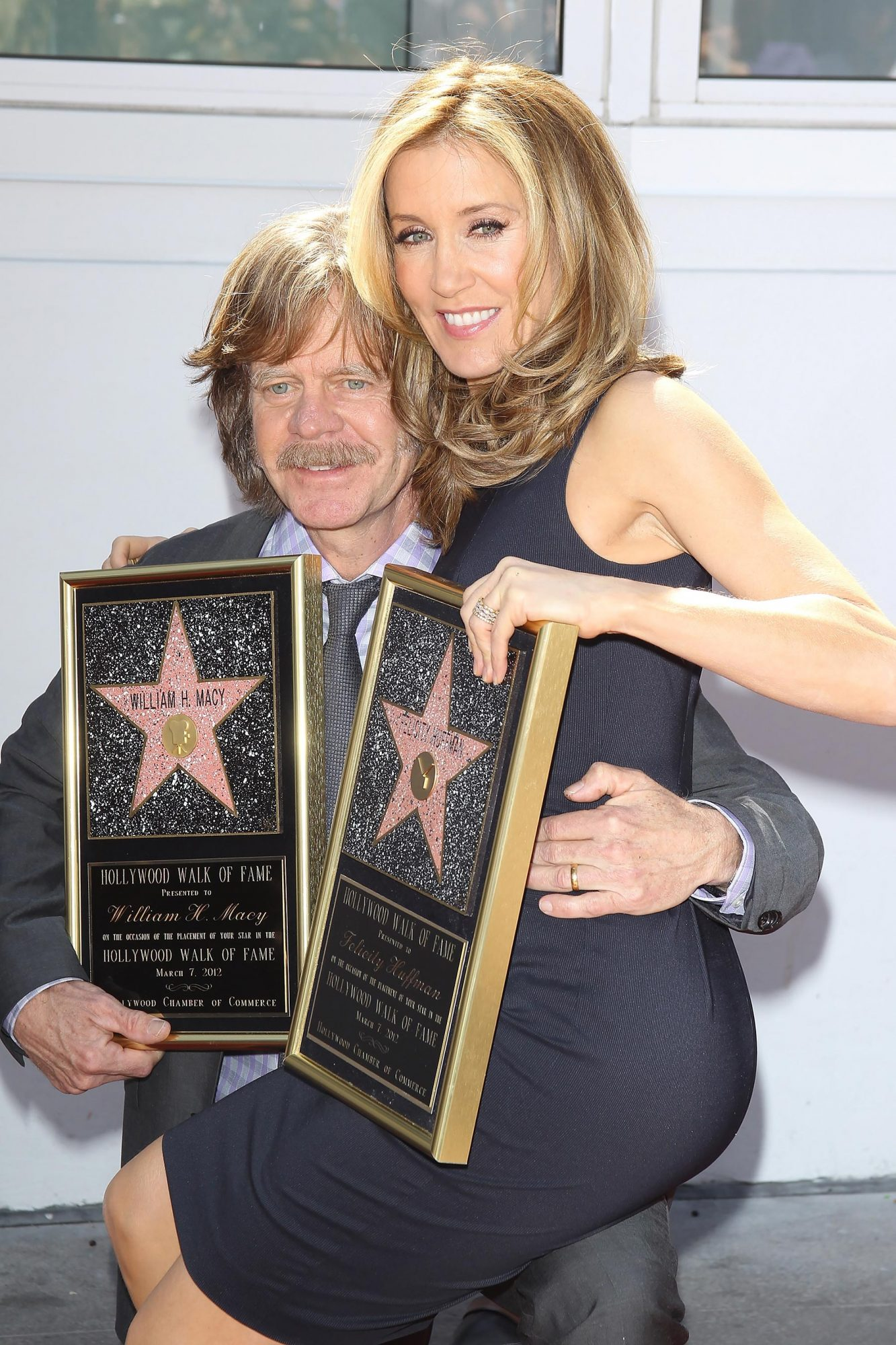 Felicity Huffman And William H. Macy Honored With Stars On The Hollywood Walk Of Fame