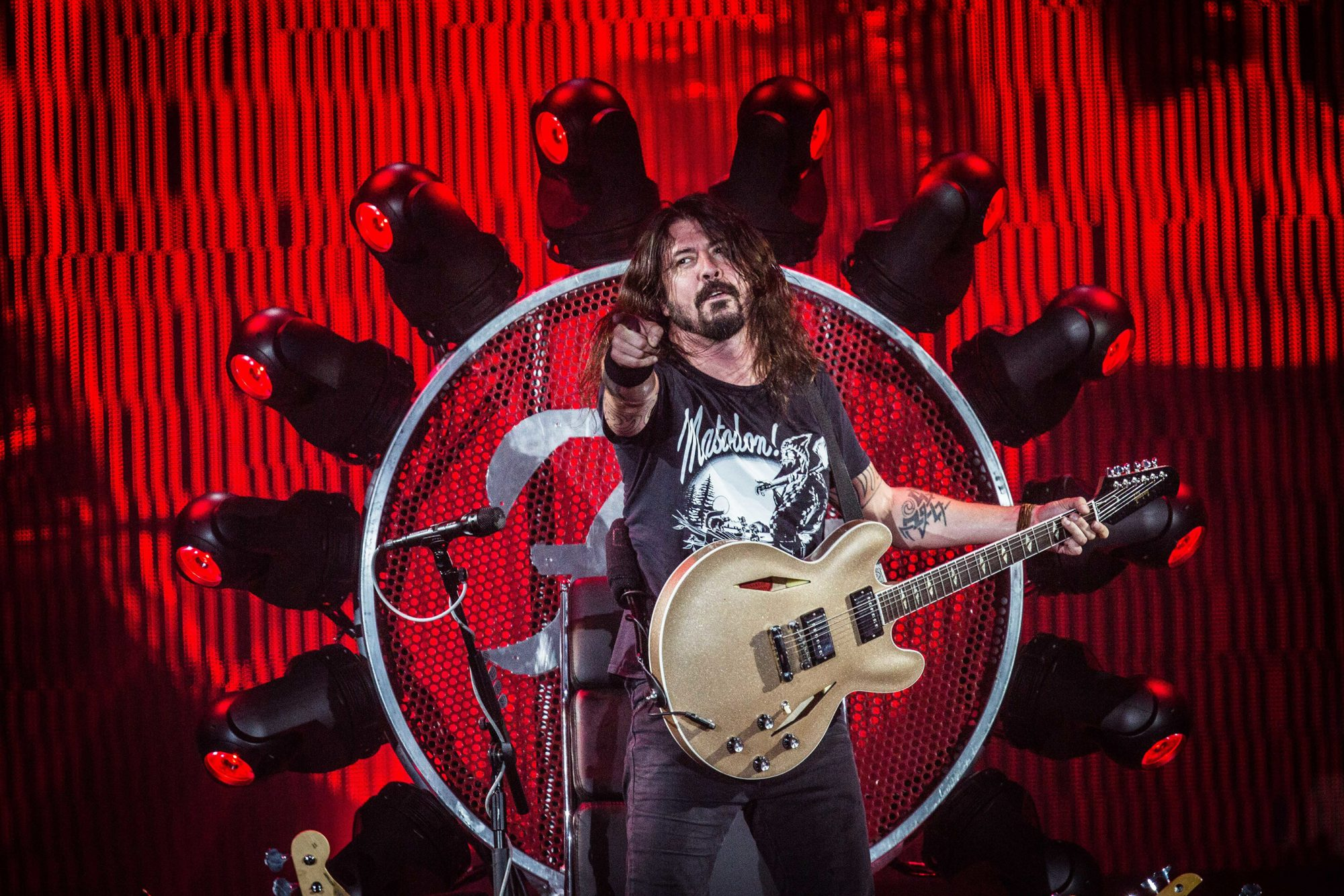 Dave Grohl of the american rock band Foo Fighters pictured