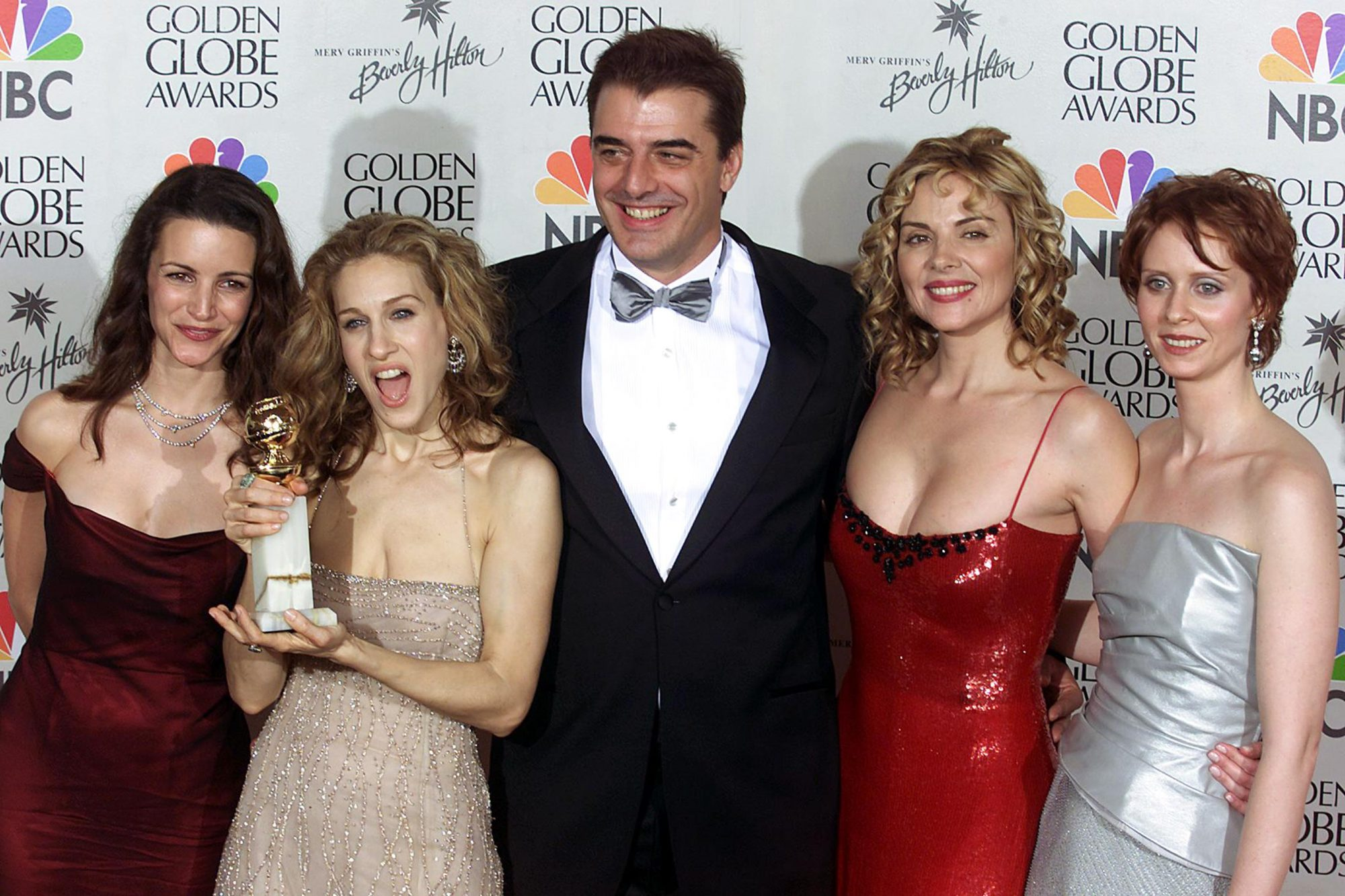 """The cast of """"Sex and the City"""" (L-R) Kristin Davie"""