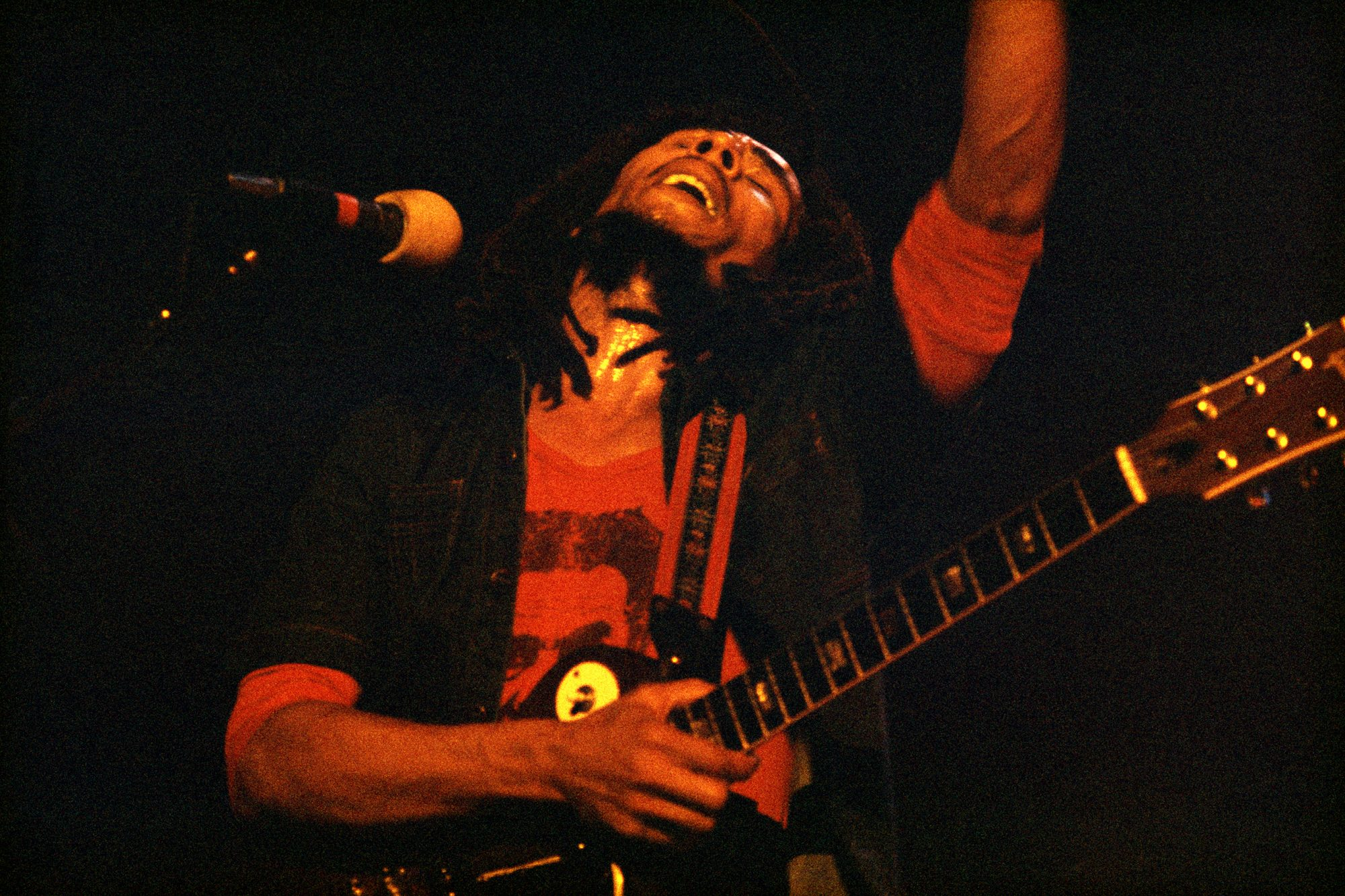 Bob Marley at Hammersmith Odeon in London in 1976