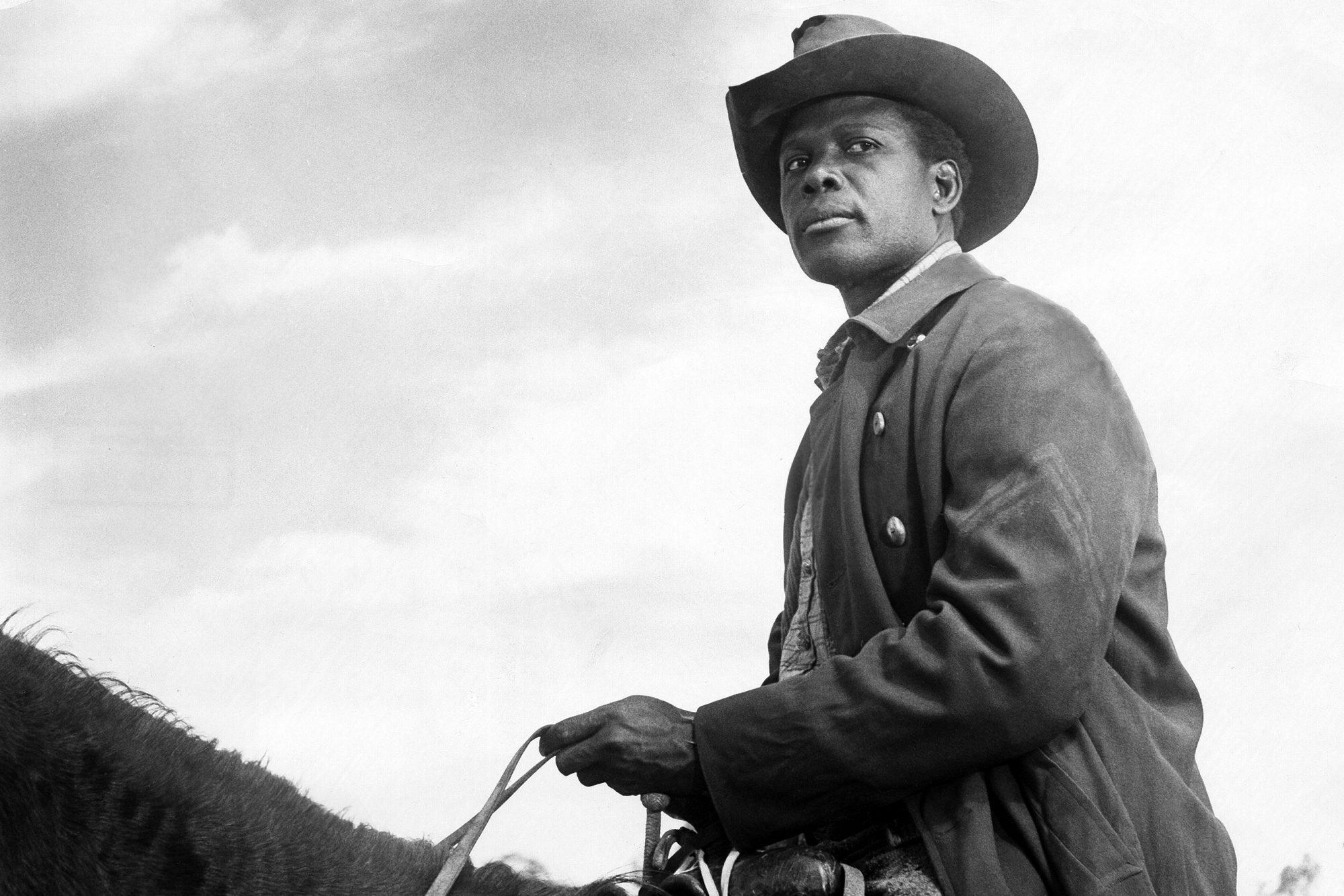 """Sidney Poitier, Schauspieler, USA - in dem Film """"Der Weg der Verdammten"""""""