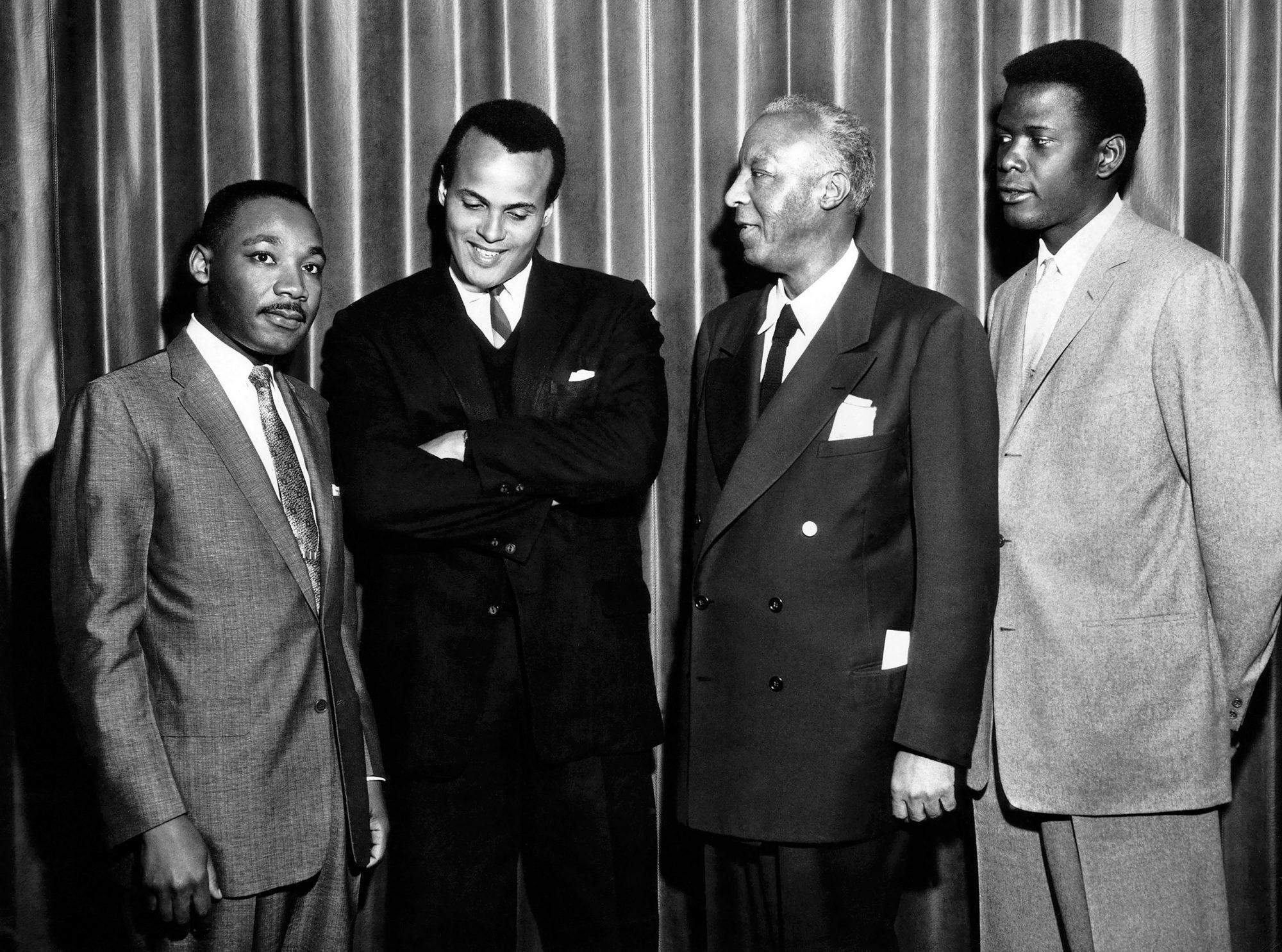 Martin Luther King Jr., Harry Belafonte, Sidney Poitier