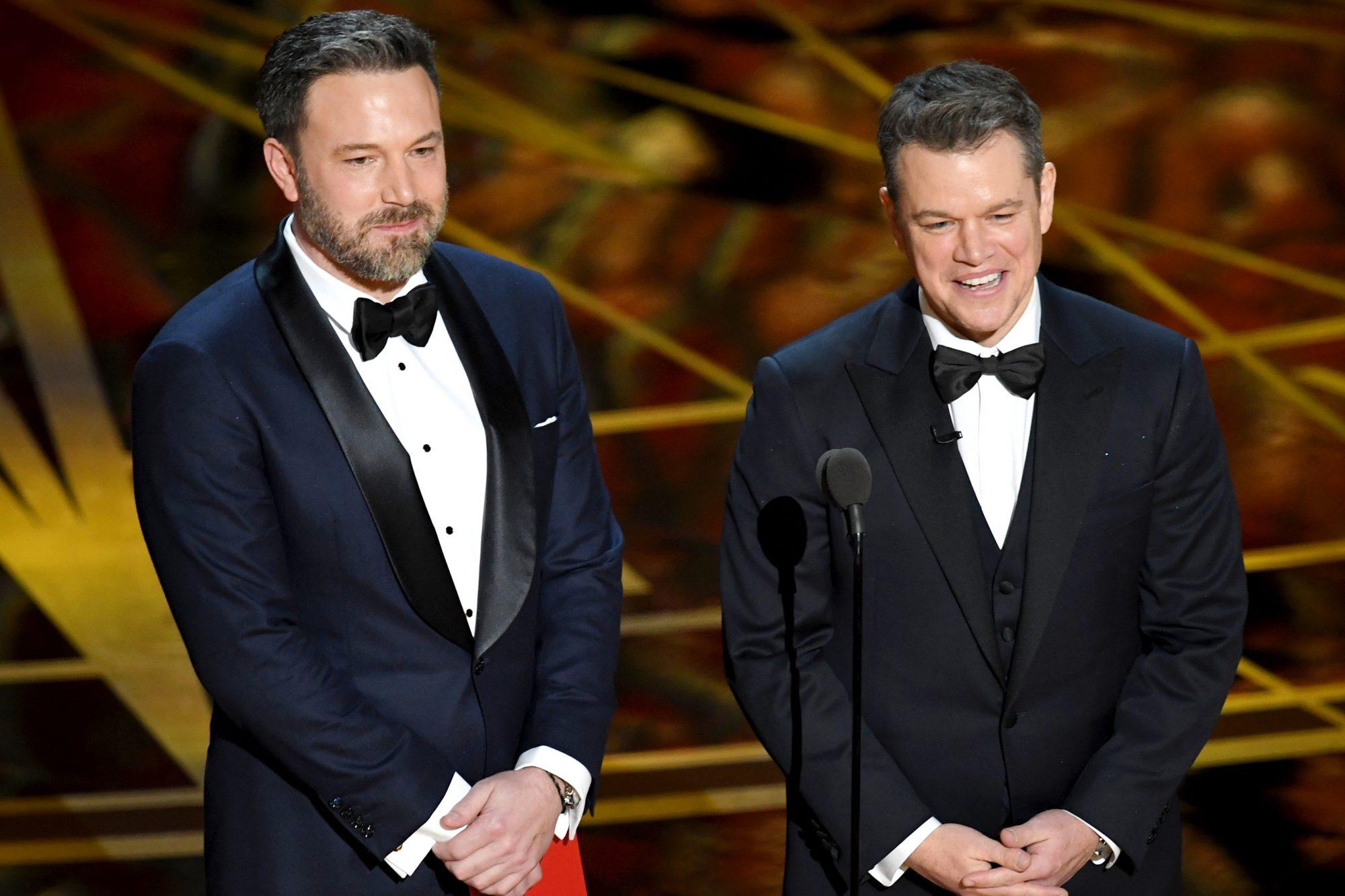Ben Affleck and Matt Damon at Oscars 2017
