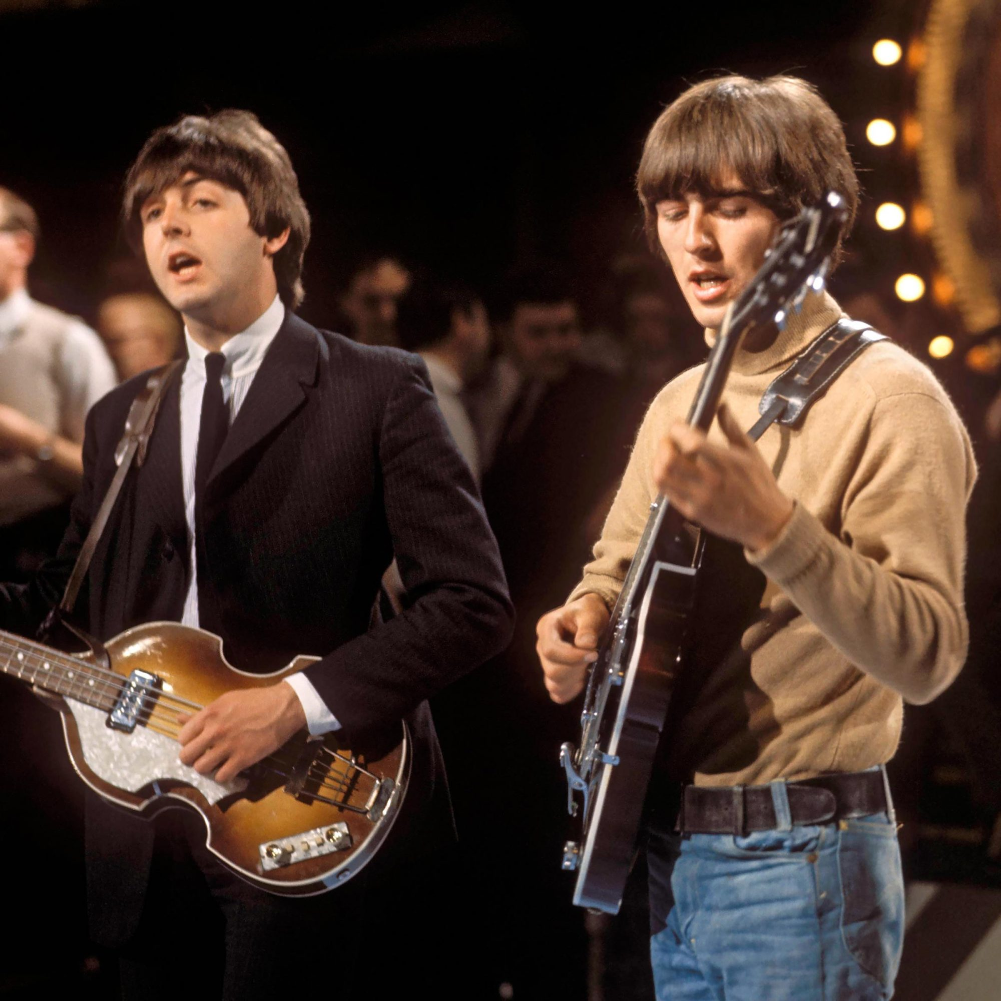 Photo of George HARRISON and BEATLES and Paul McCARTNEY