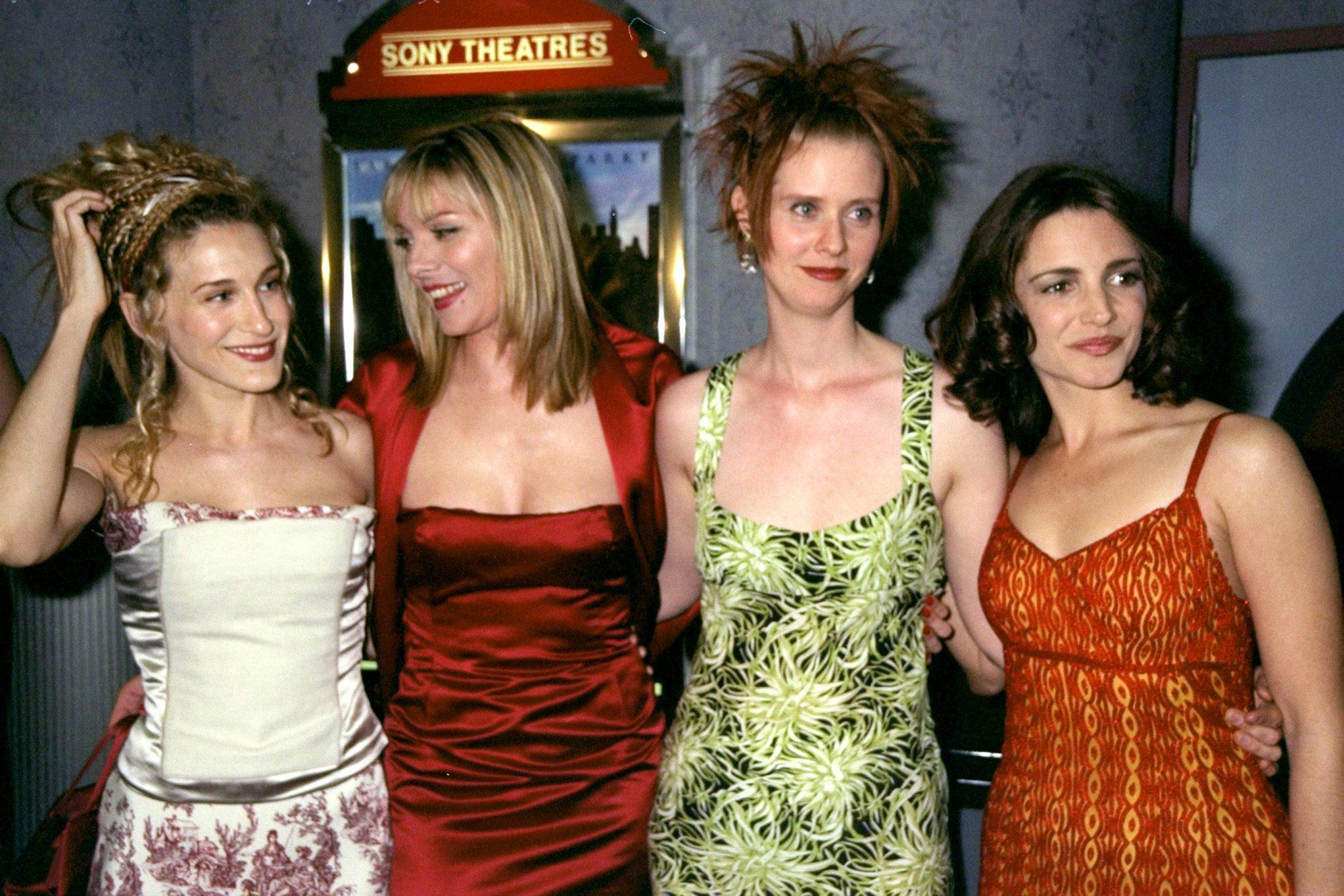 Actresses Sarah Jessica Parker, Kim Cattrell, Cynthia Nixon