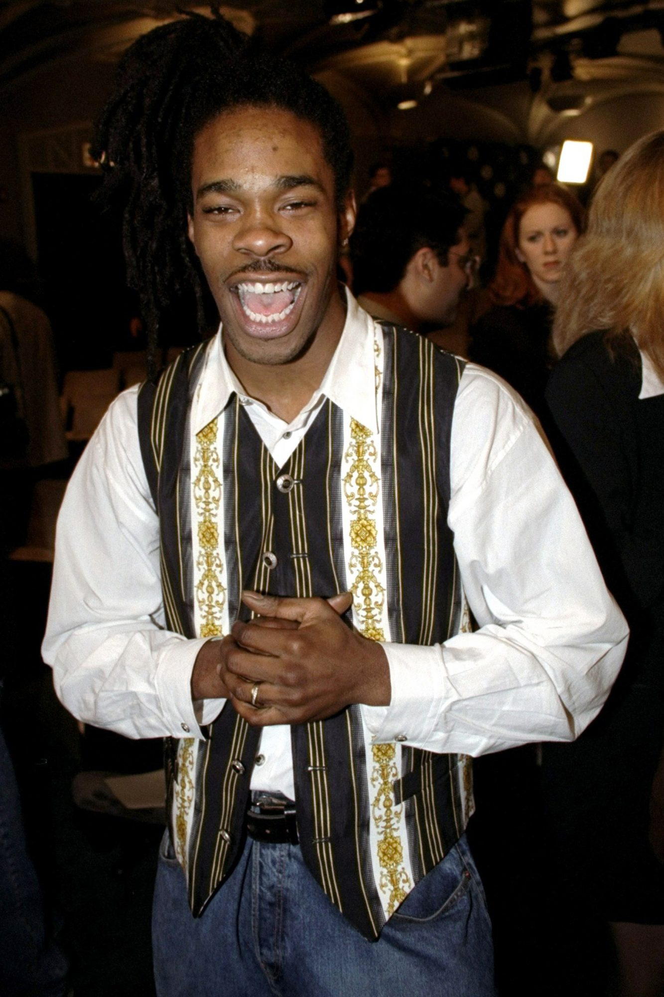 Rapper Busta Rhymes is all smiles after being nominated for