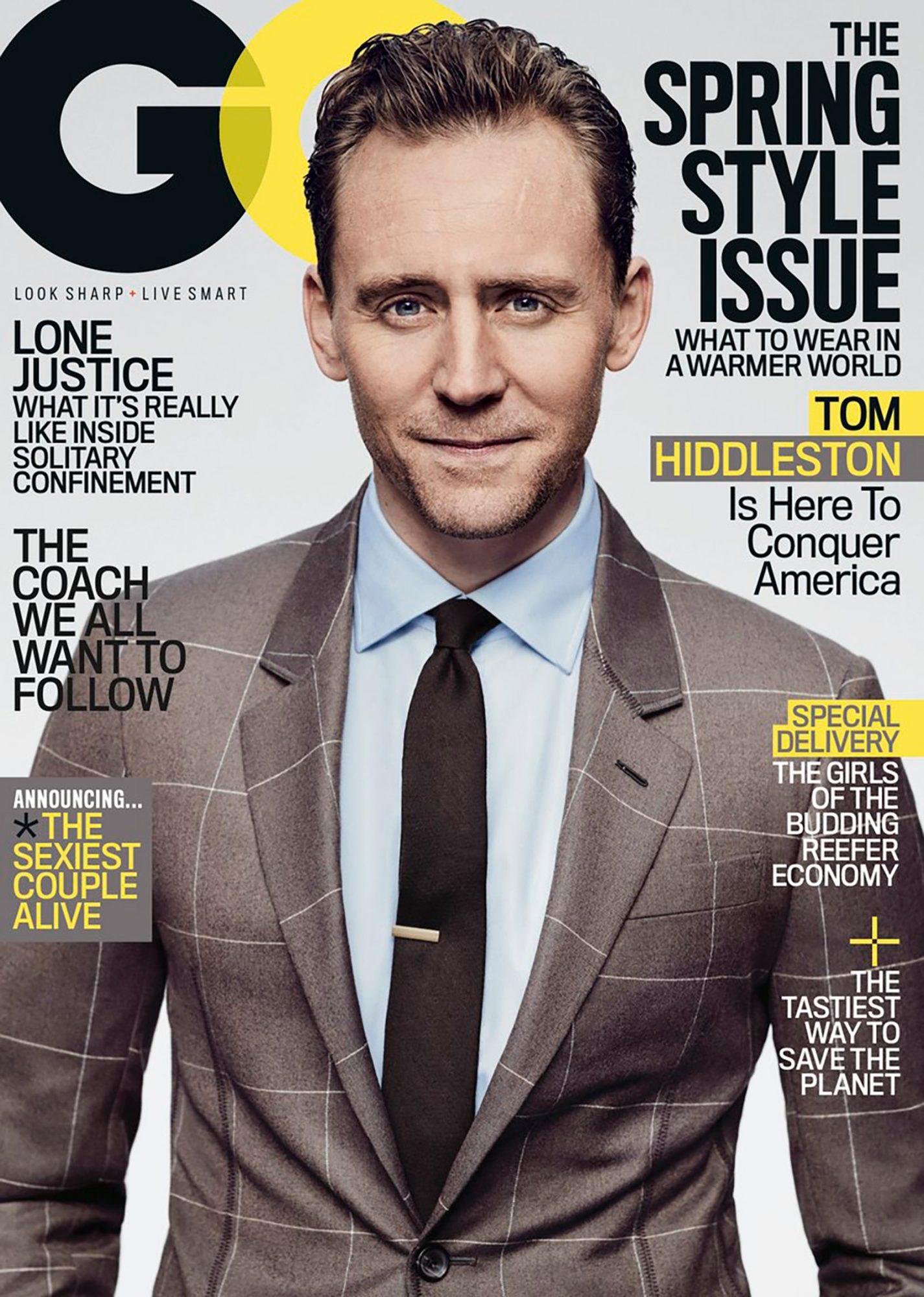 Tom Hiddleston GQ cover