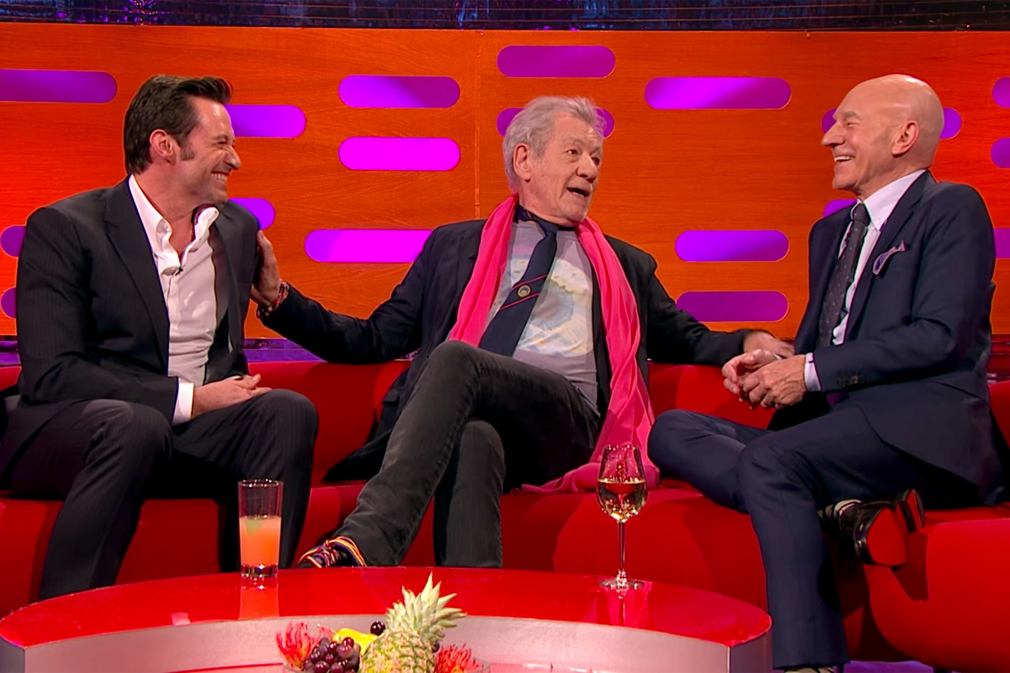Ian McKellen on The Graham Norton Show with Hugh Jackman and Patrick Stewart