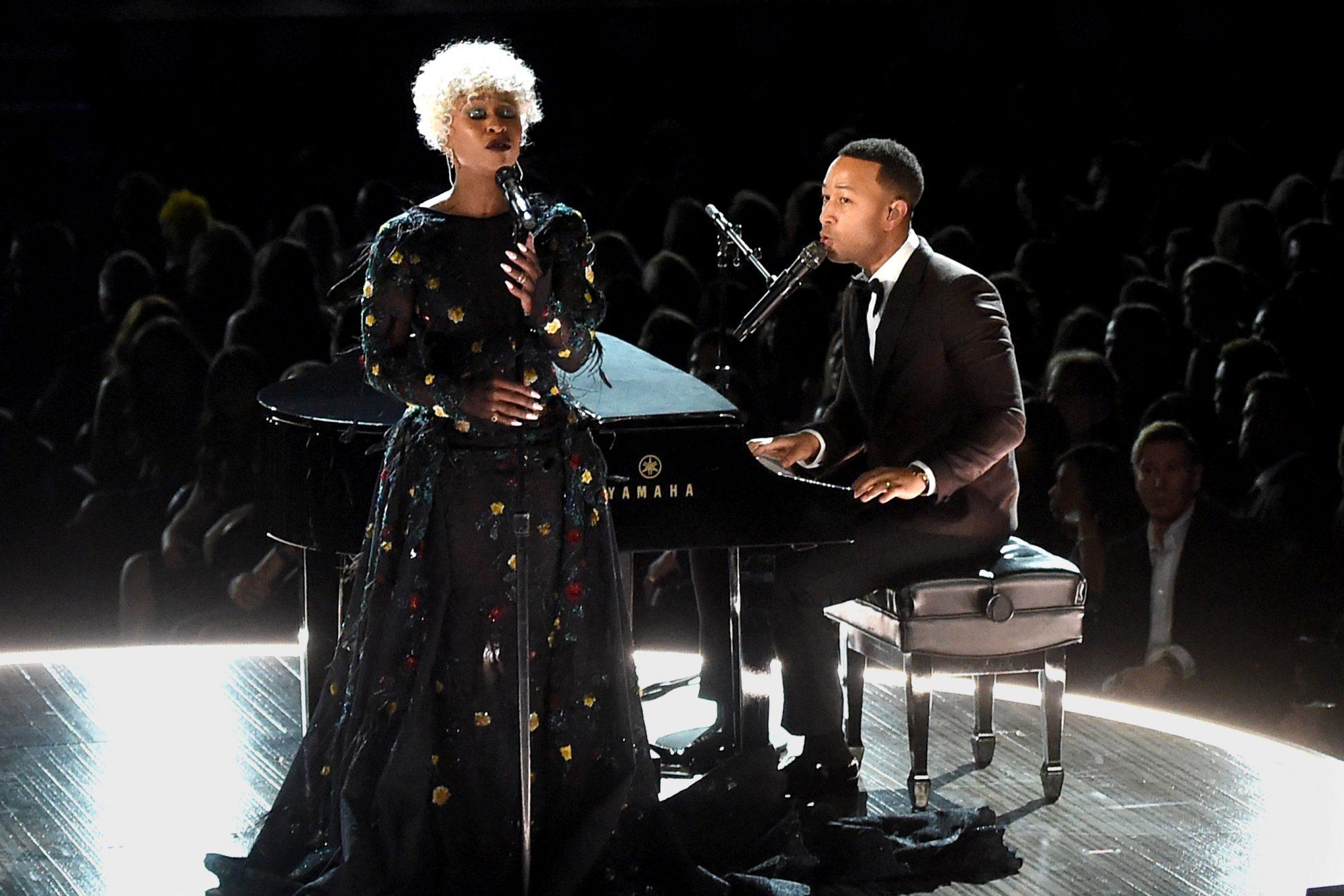 Cynthia Erivo and John Legend Grammy performance