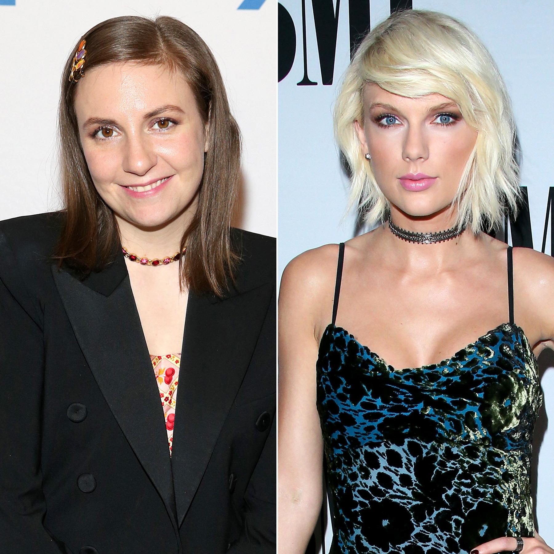 Lena Dunham and Taylor Swift