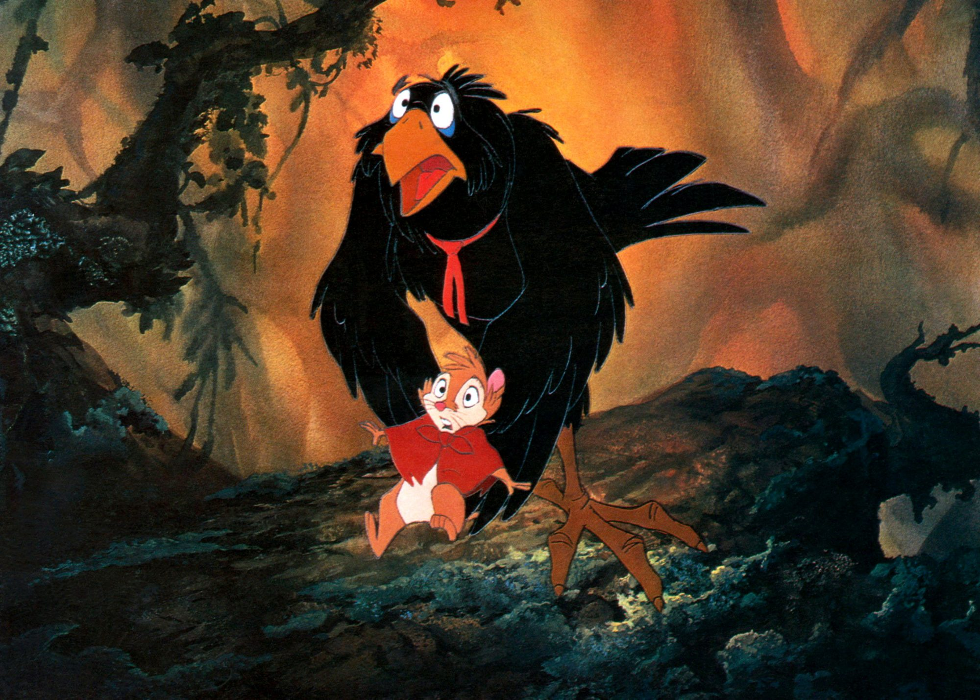 THE SECRET OF NIMH, Mrs. Brisby (front), Jeremy, 1982, (c) United Artists/courtesy Everett Collectio