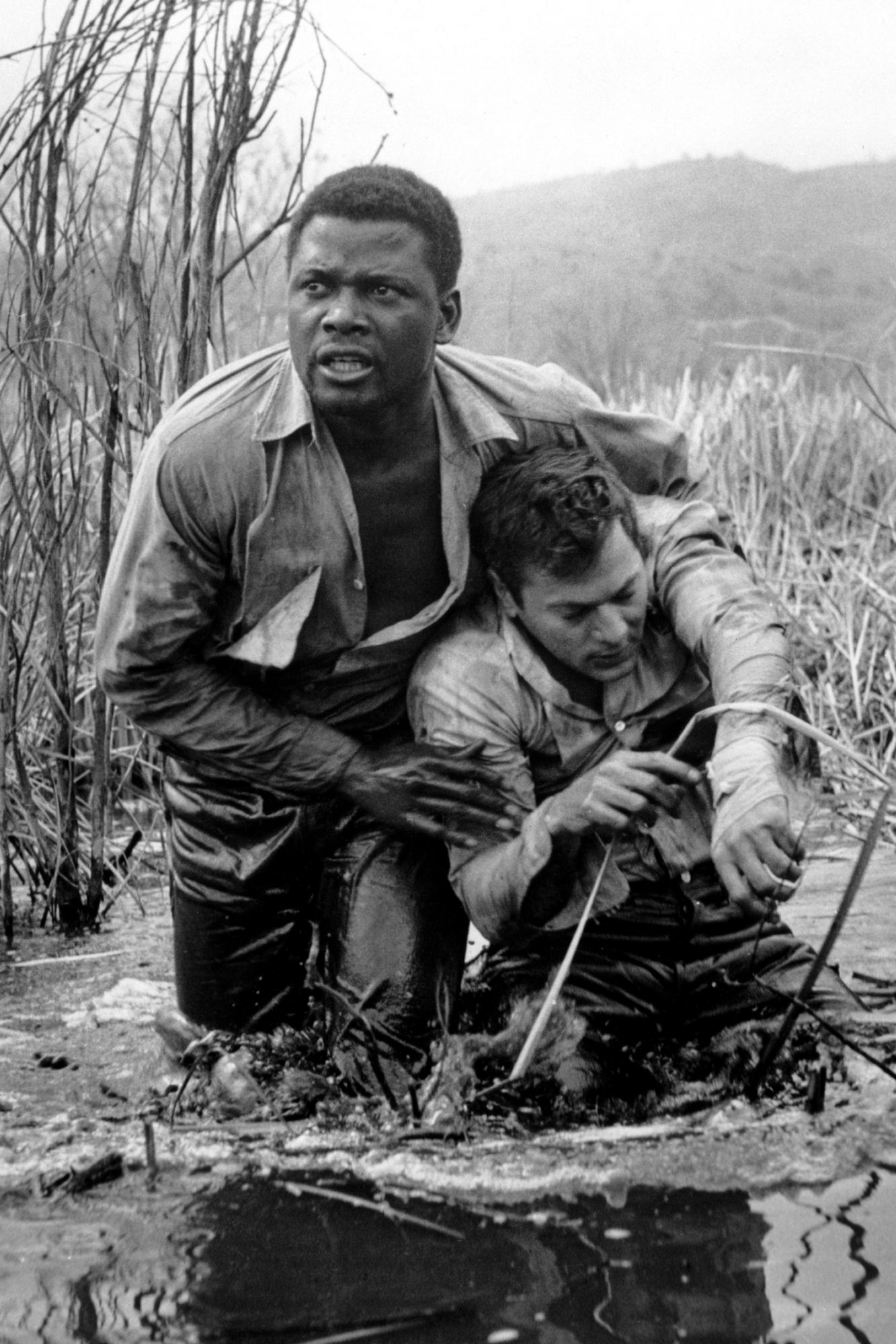 THE DEFIANT ONES, Sidney Poitier, Tony Curtis, 1958.