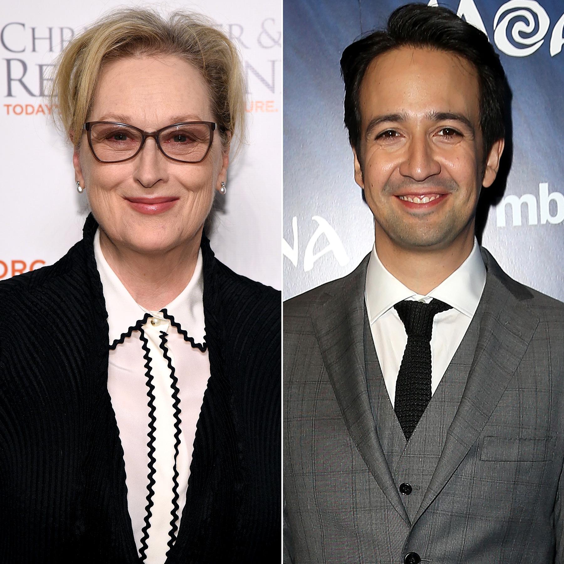 Meryl Streep and Lin Manuel Miranda