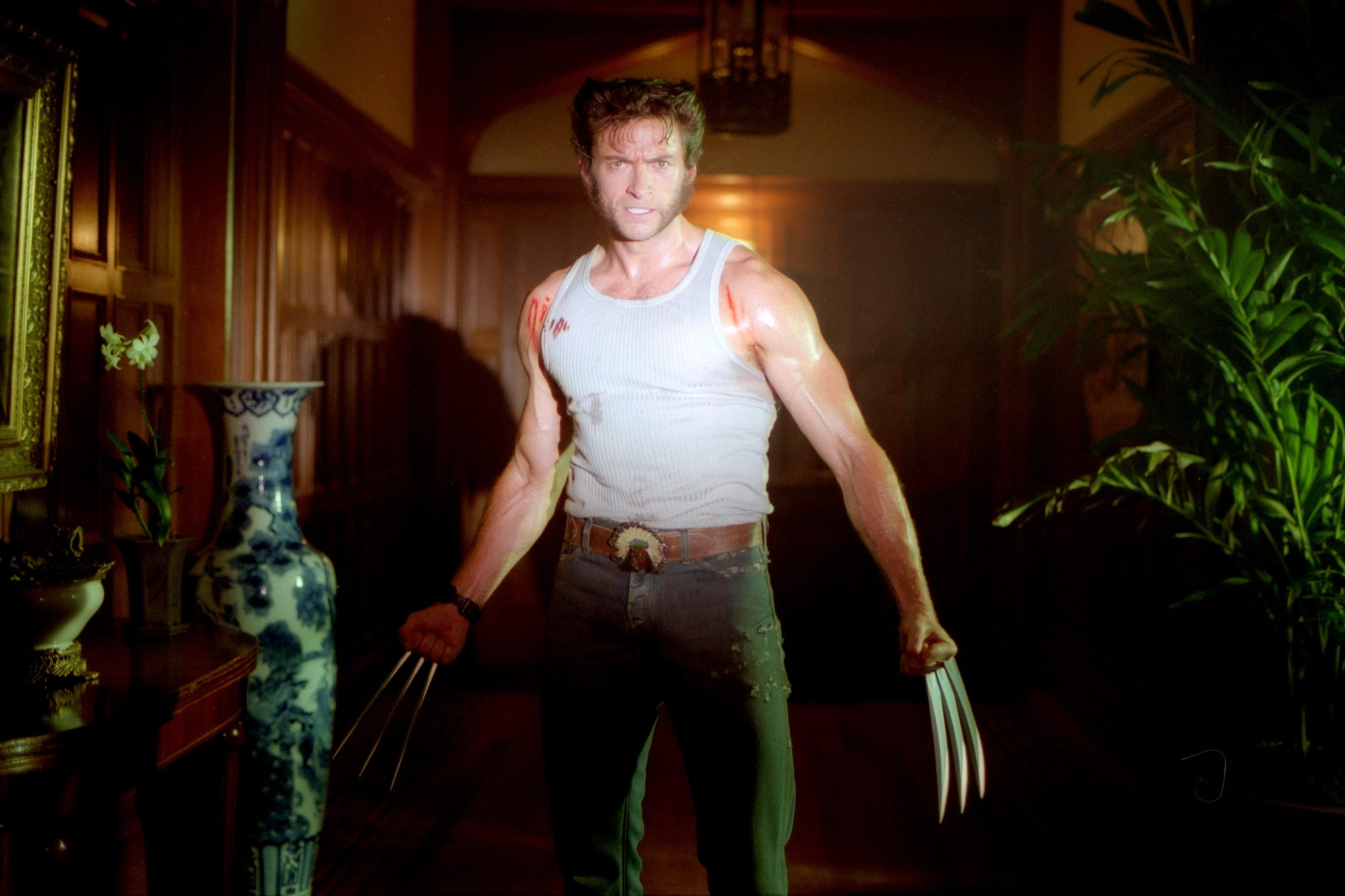 Hugh Jackman as WolverineX-Men  2 (2003)