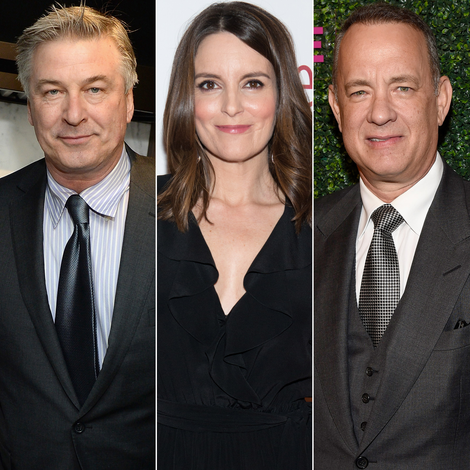 Alec Baldwin, Tina Fey and Tom Hanks