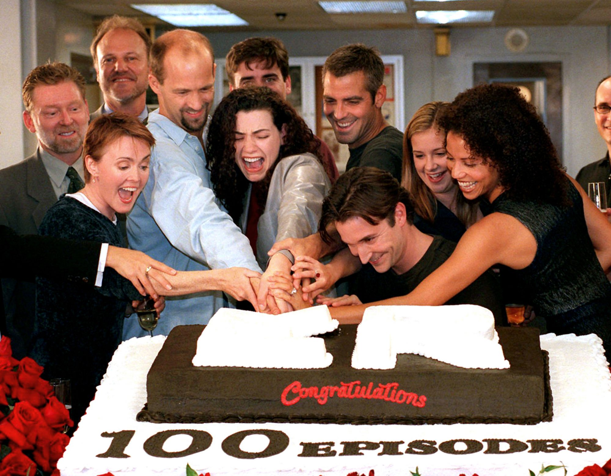 Laura Innes, Anthony Edwards, Julianna Margulies, George Clooney, Noah Wyle, Kellie Martin, Gloria Reuben