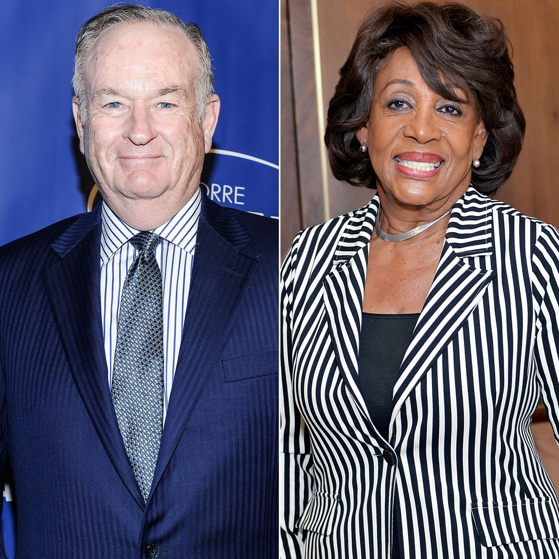Bill O'Reilly and Maxine Waters