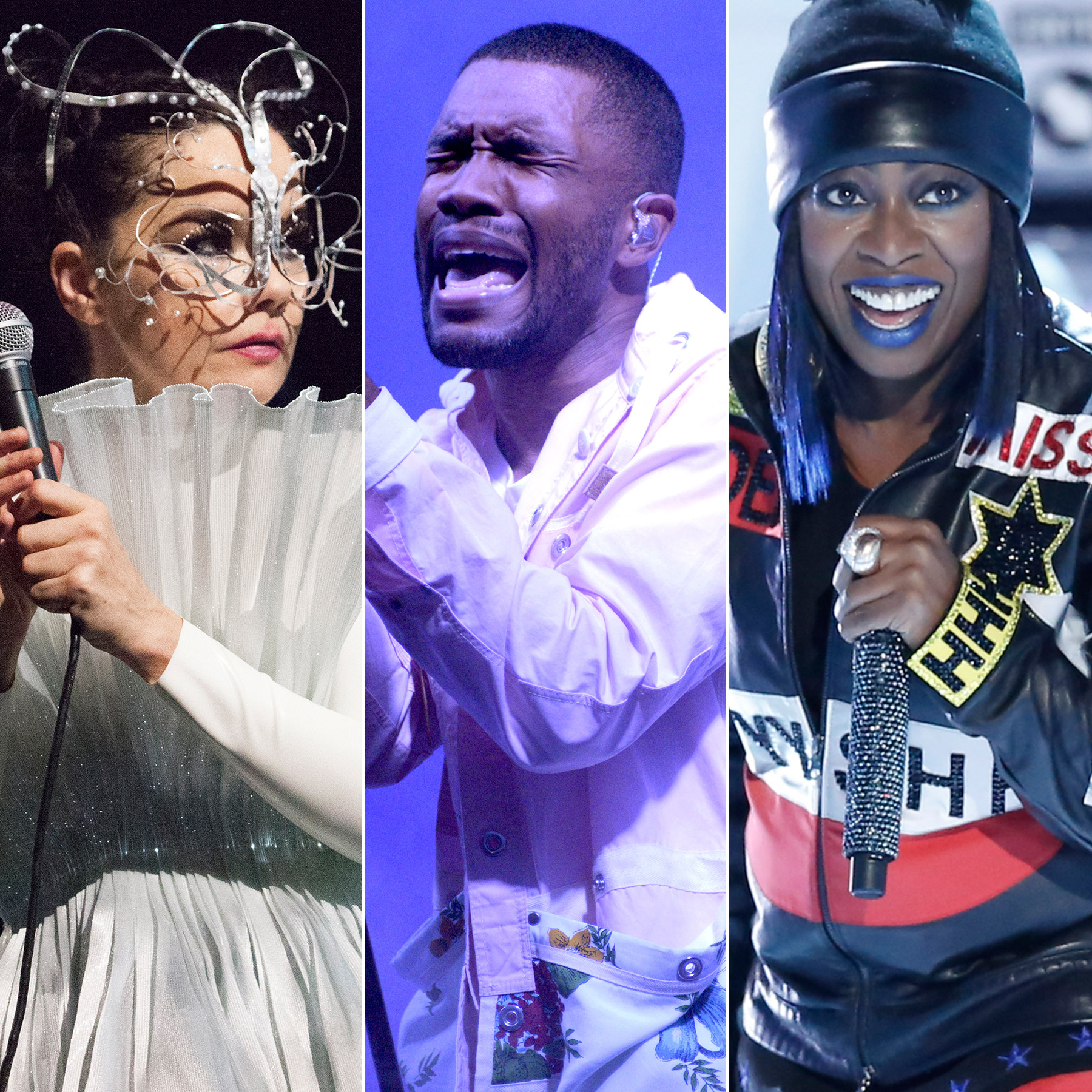 Bjork, Missy Elliott and Frank Ocean