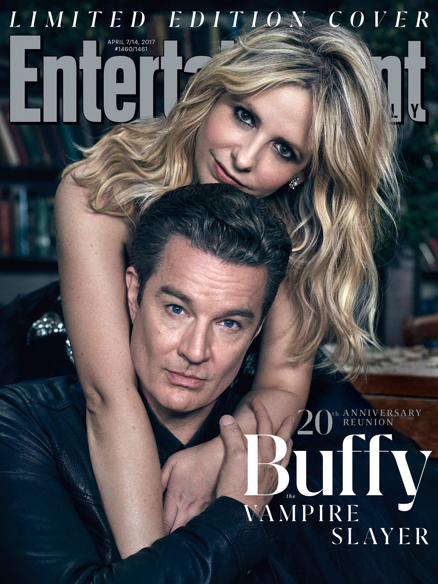 Sarah Michelle Gellar and James Marsters on the Cover of EW