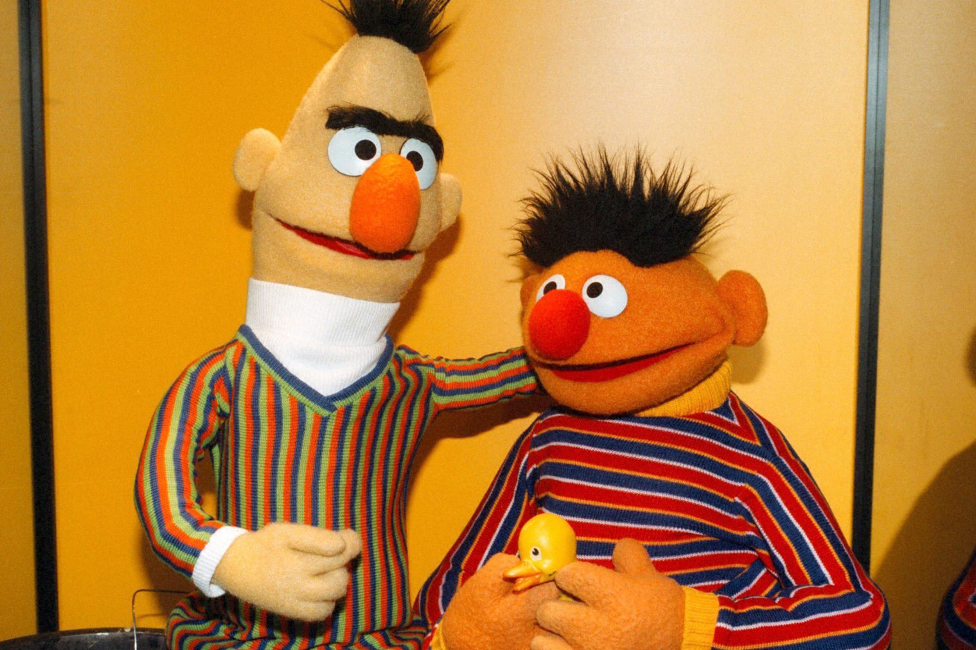 Bert & Ernie, 'Sesamstra?e' ARD, Sesamstrasse,, (Photo by Pet