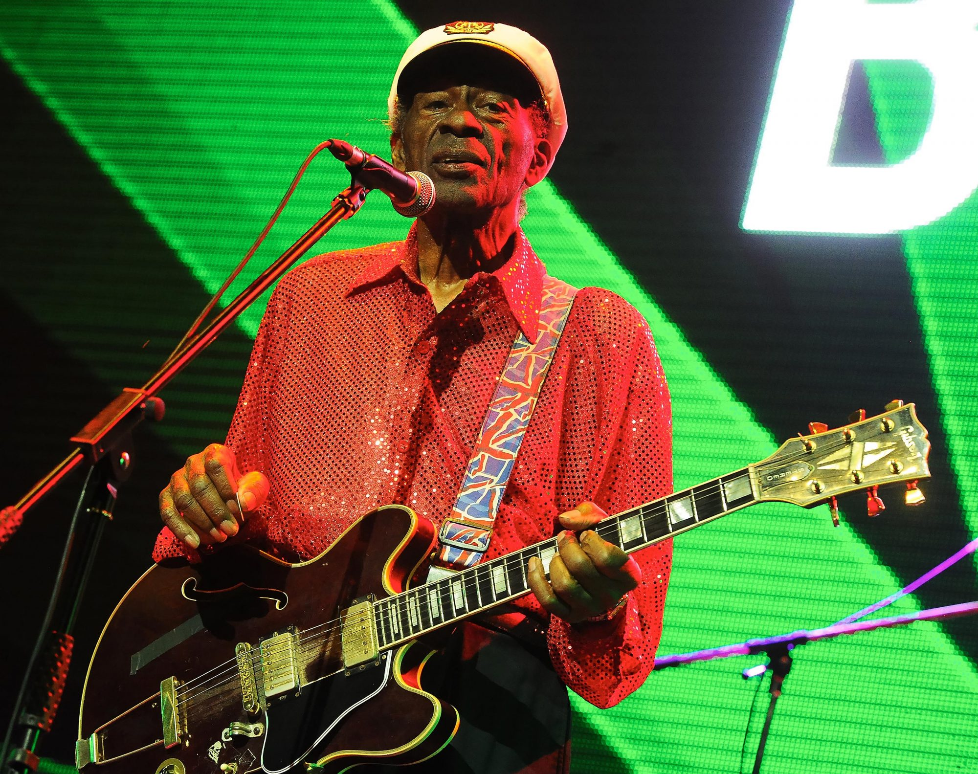 Singer Chuck Berry Performance In Moscow
