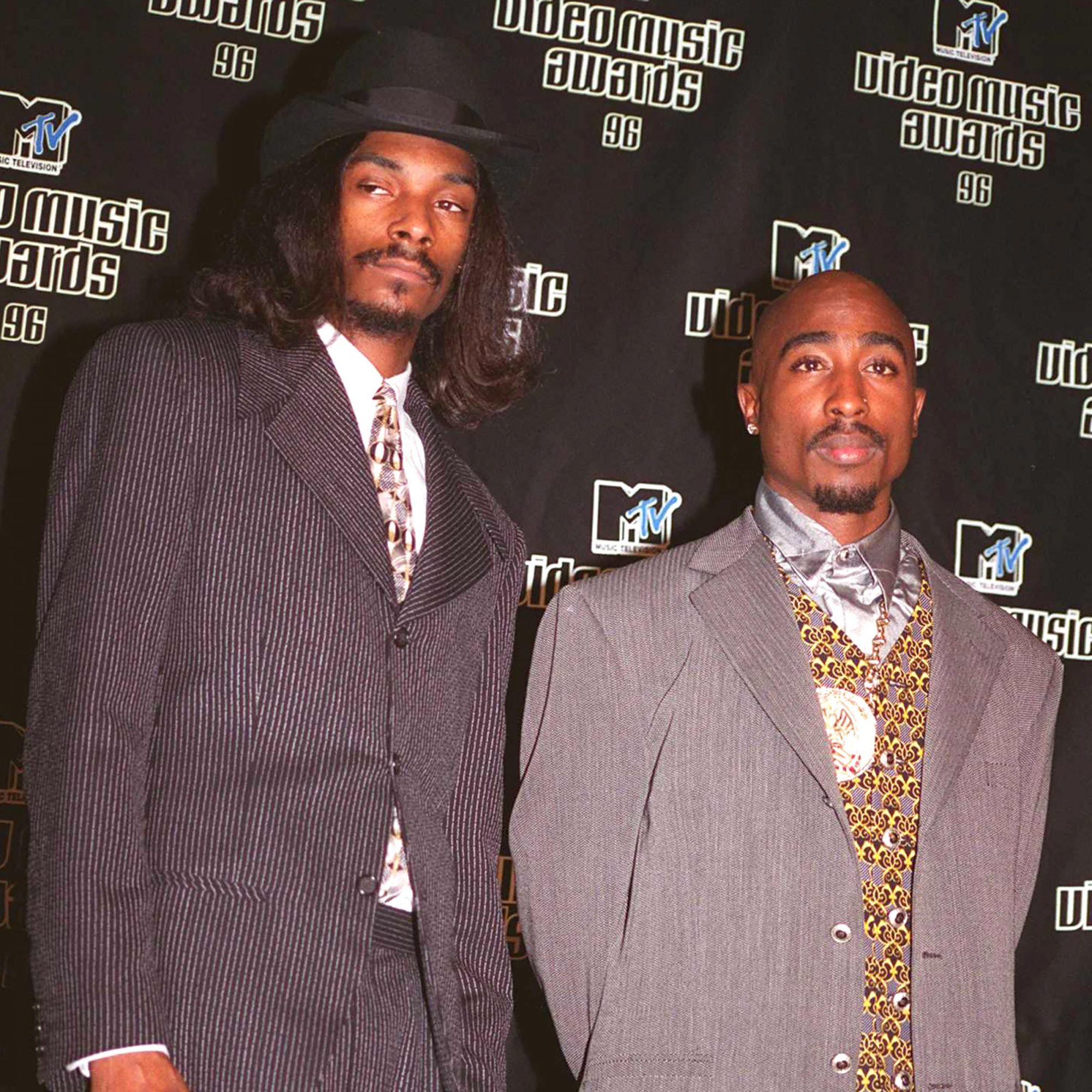Snoop Doggy Dogg And Tupac Shakur At The 1996 MTV Music Awards