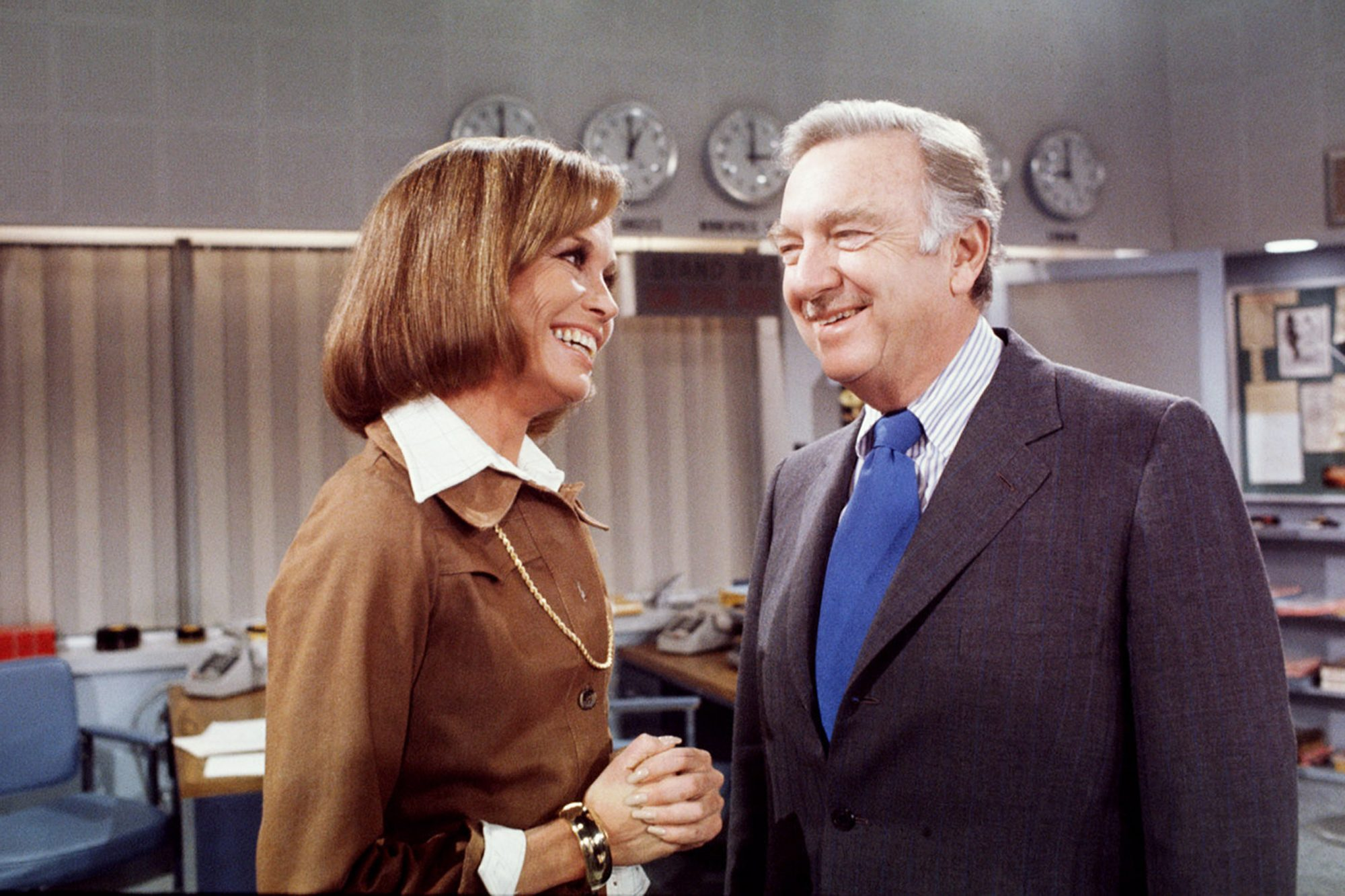 Mary & Walter In A Still From 'Mary Tyler Moore'