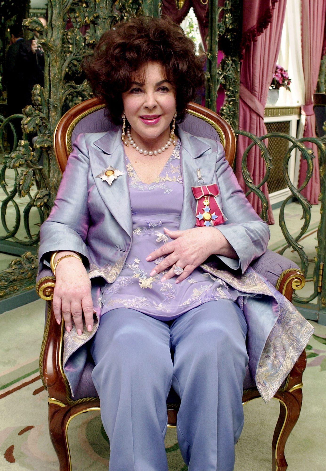 Elizabeth Taylor Celebrates Being Made A Dame