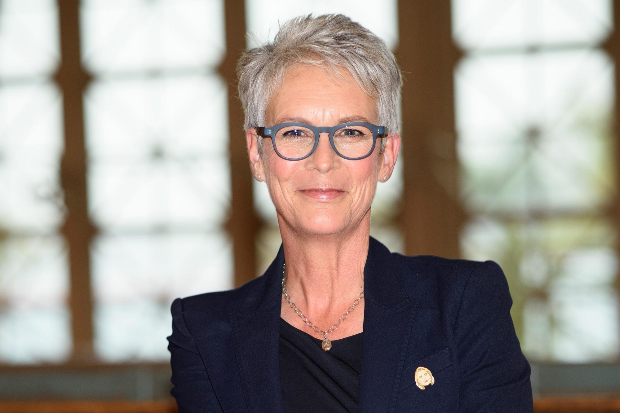 "Jamie Lee Curtis Reads Her New Book ""This Is Me"" To Children On Ellis Island"
