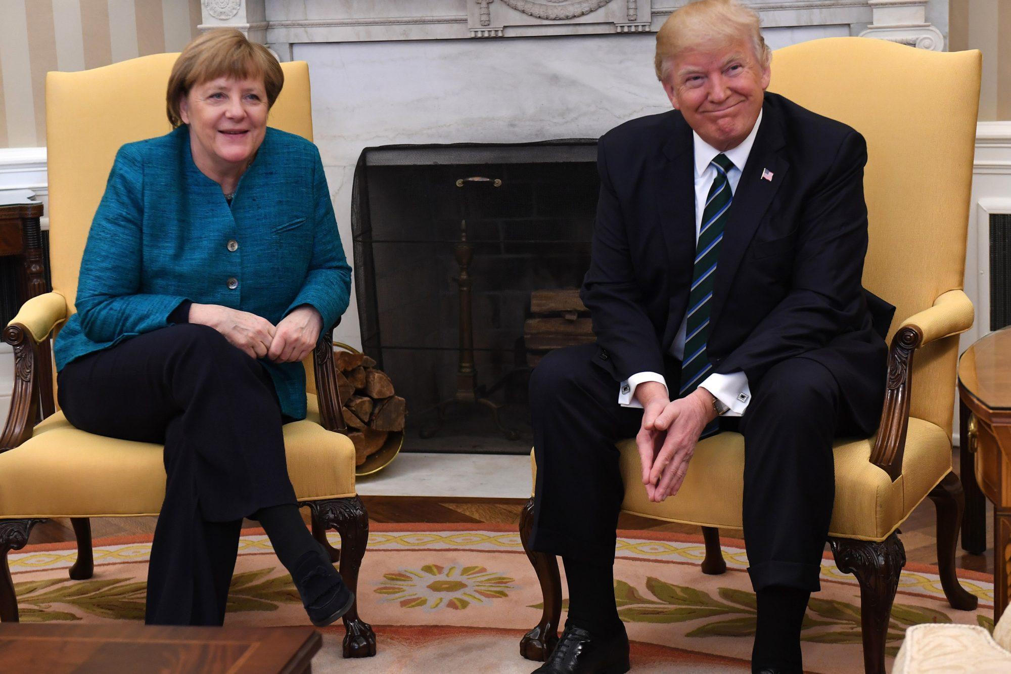 President Trump Welcomes German Chancellor Angela Merkel To The White House