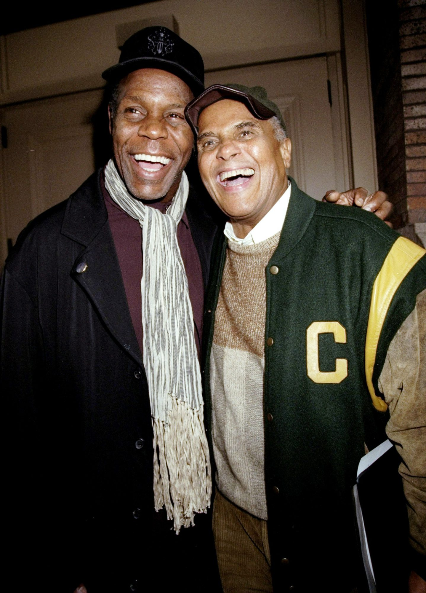Danny Glover and Harry Belafonte outside Carnegie Hall after
