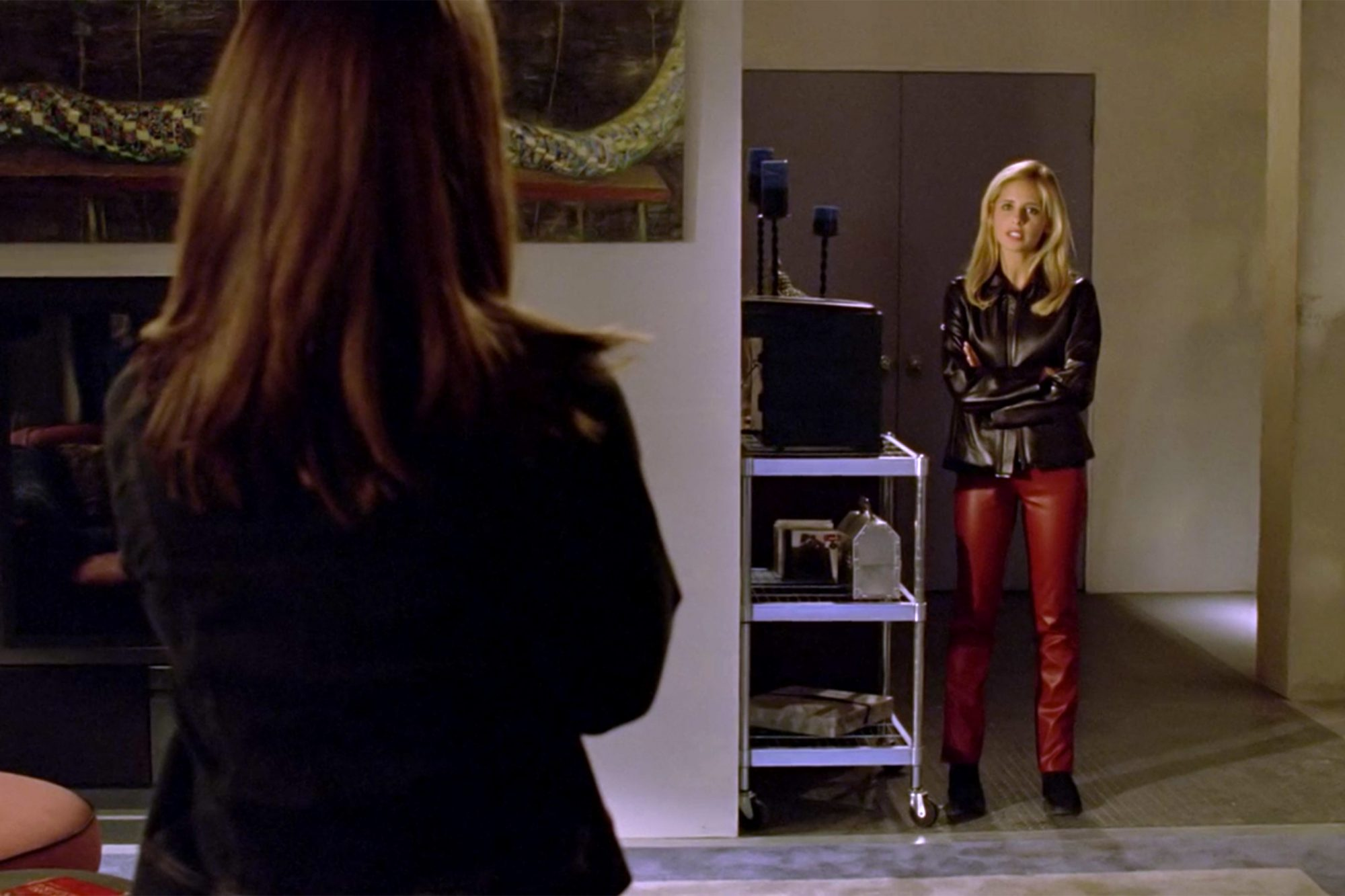 The Red Leather Pants