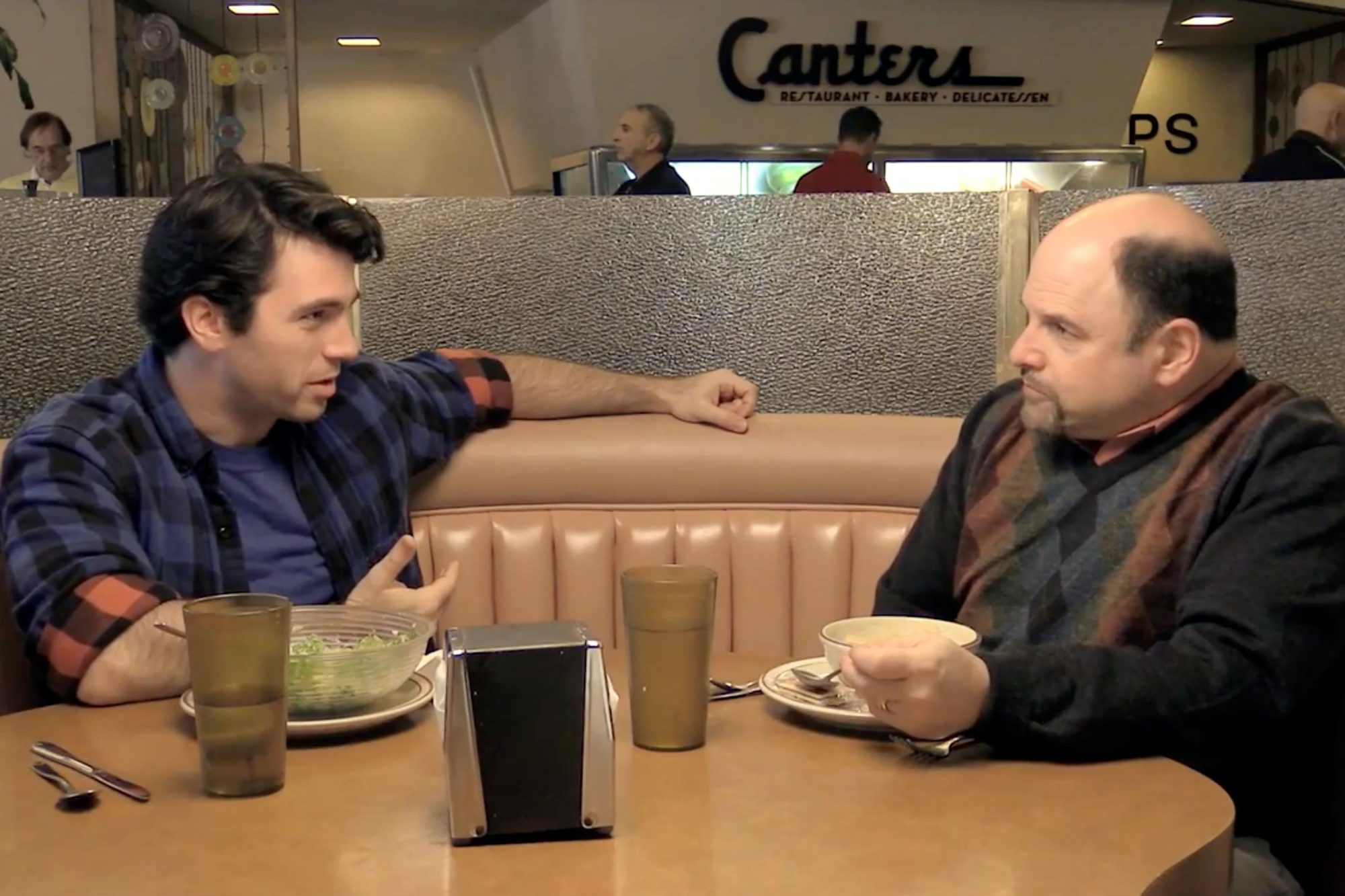 JASON ALEXANDER and GABE GREENSPAN -- screen grab from EW.com exclusive clip