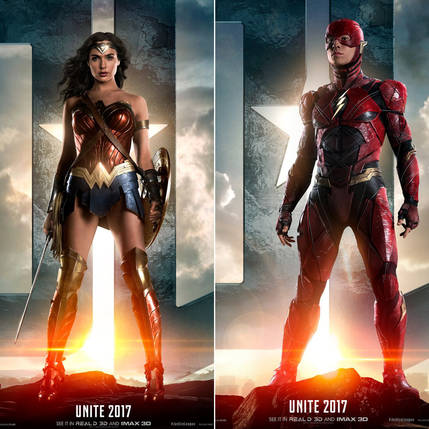 Justice League Movie Poster Teasers