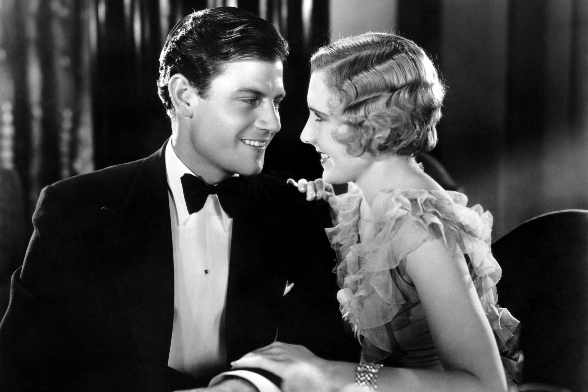 THE SILVER HORDE, from left, Joel McCrea, Jean Arthur, 1930