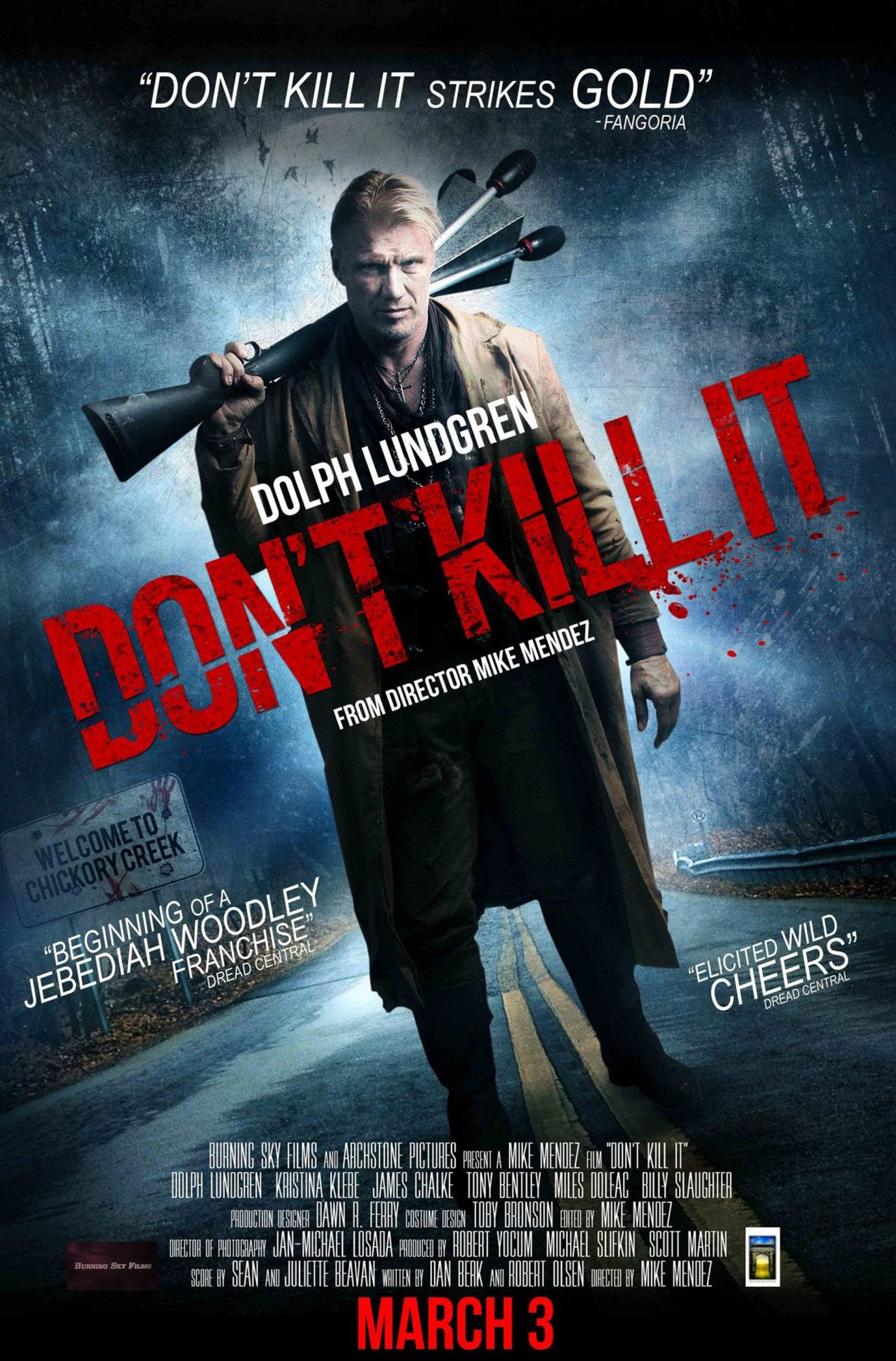 DON'T KILL IT, US poster, Dolph Lundgren, 2016. © Archstone Distribution /Courtesy Everett