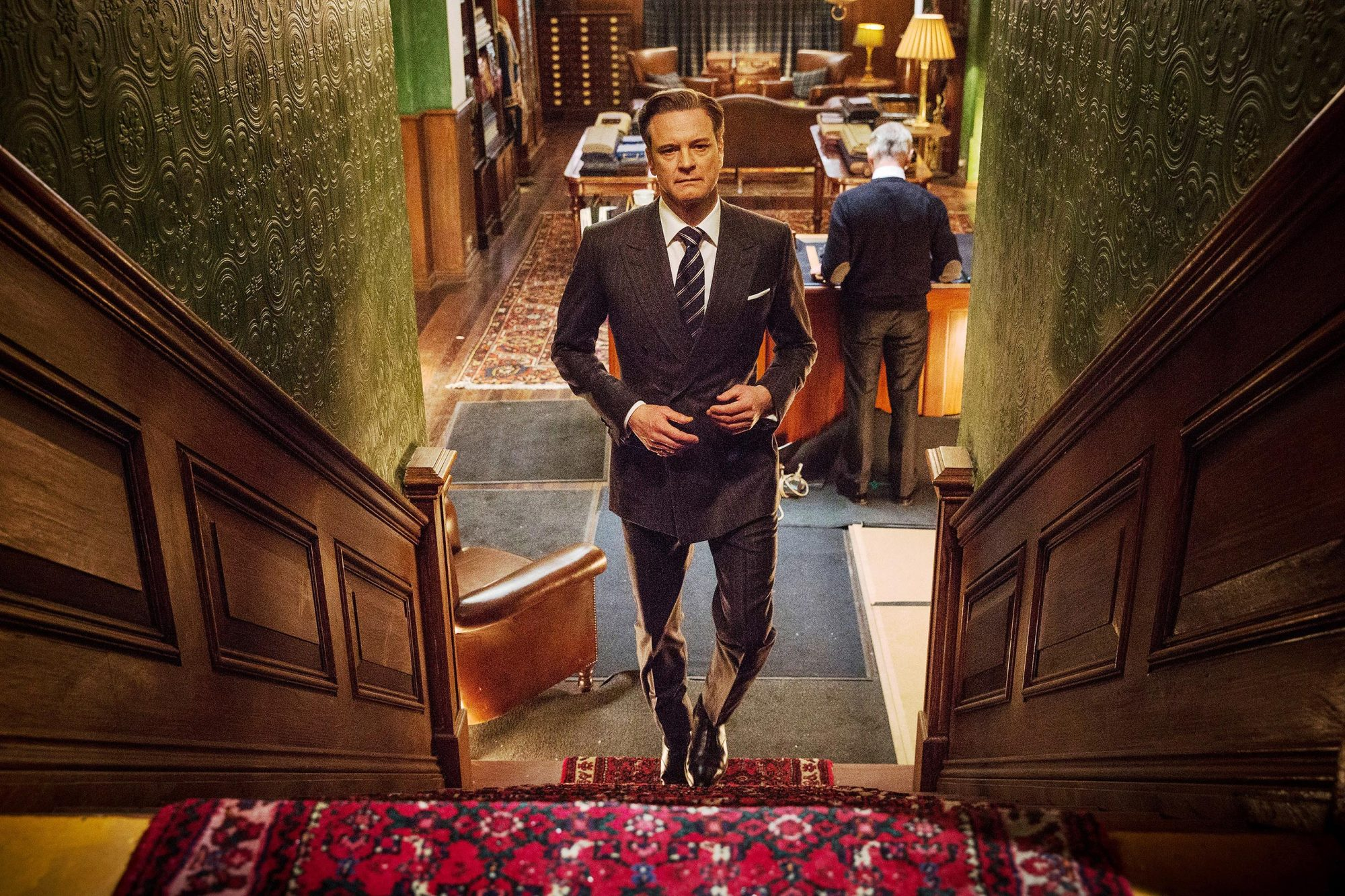 KINGSMAN: THE SECRET SERVICE, Colin Firth, 2014. ph: Jaap Buitendijk. TM and Copyright ©20th