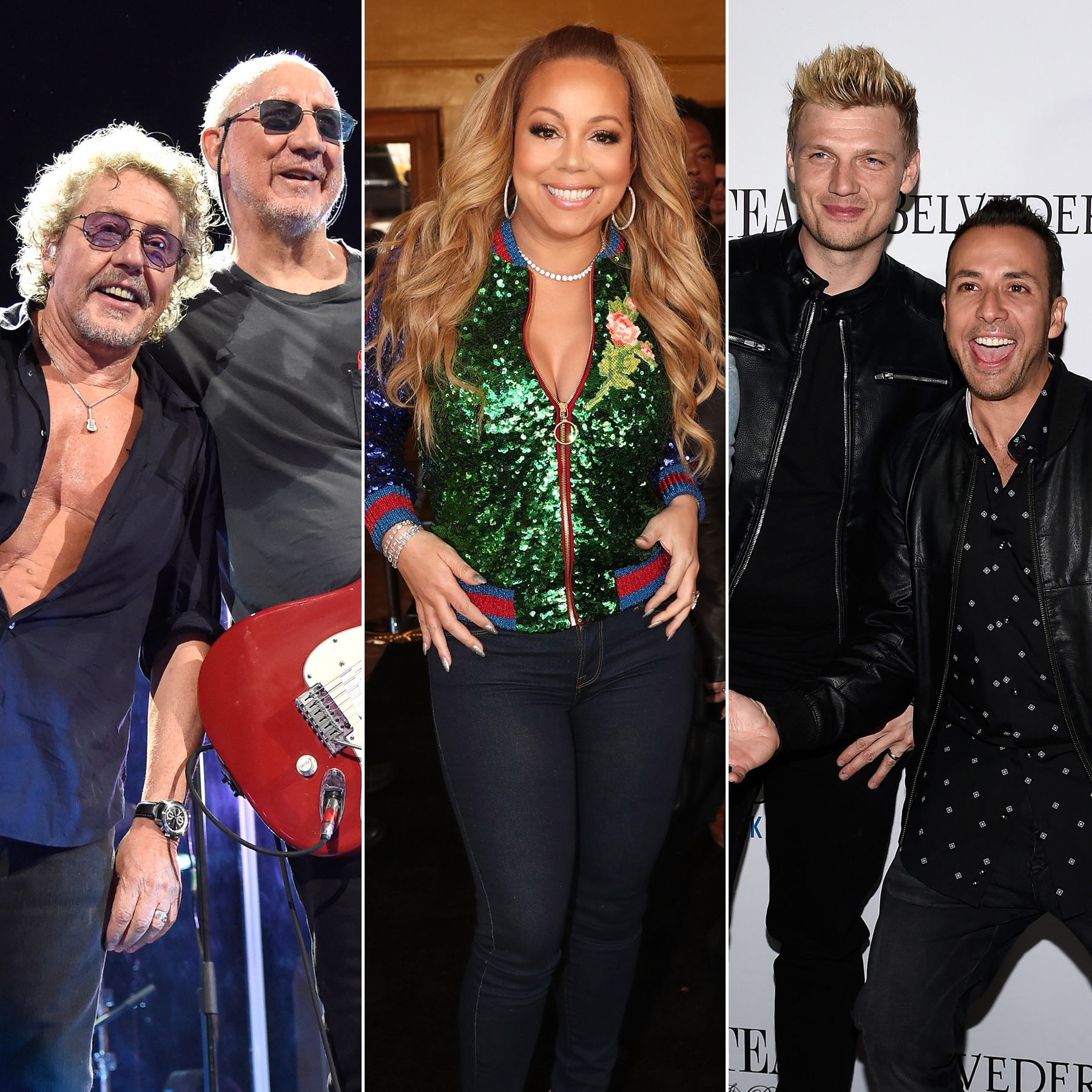 The Who, Mariah Carey and Backstreet Boys