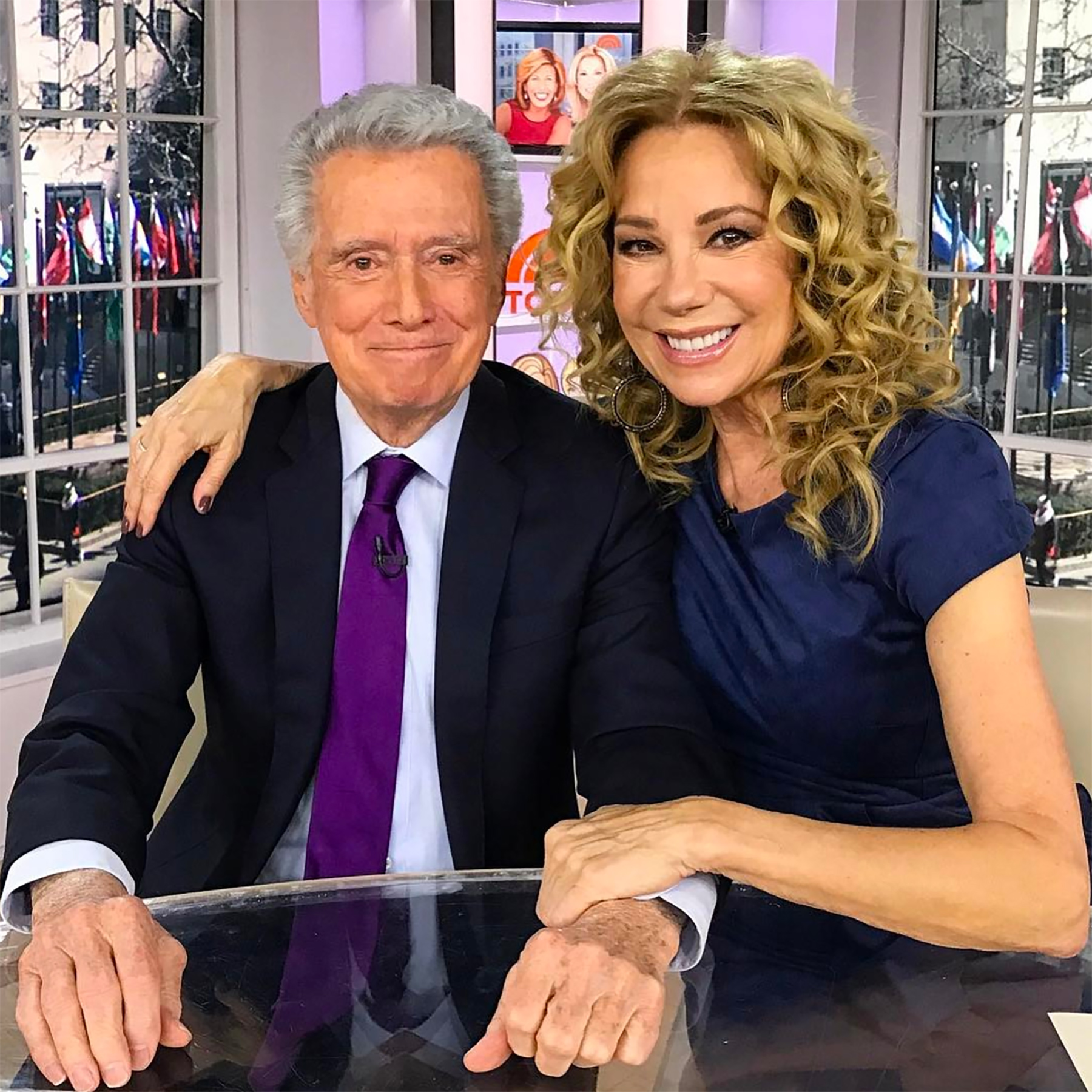 Regis Philbin and Kathie Lee